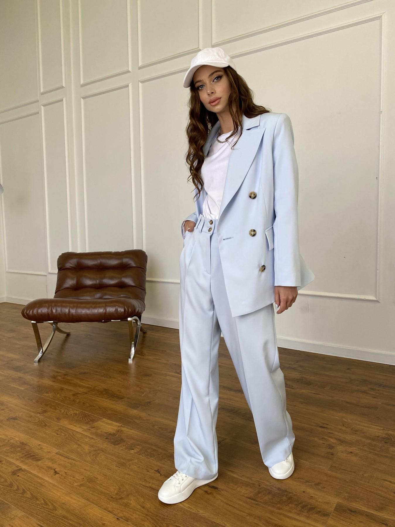 Белисимо жакет из костюмной ткани  стрейч 11192 АРТ. 47697 Цвет: Голубой - фото 5, интернет магазин tm-modus.ru