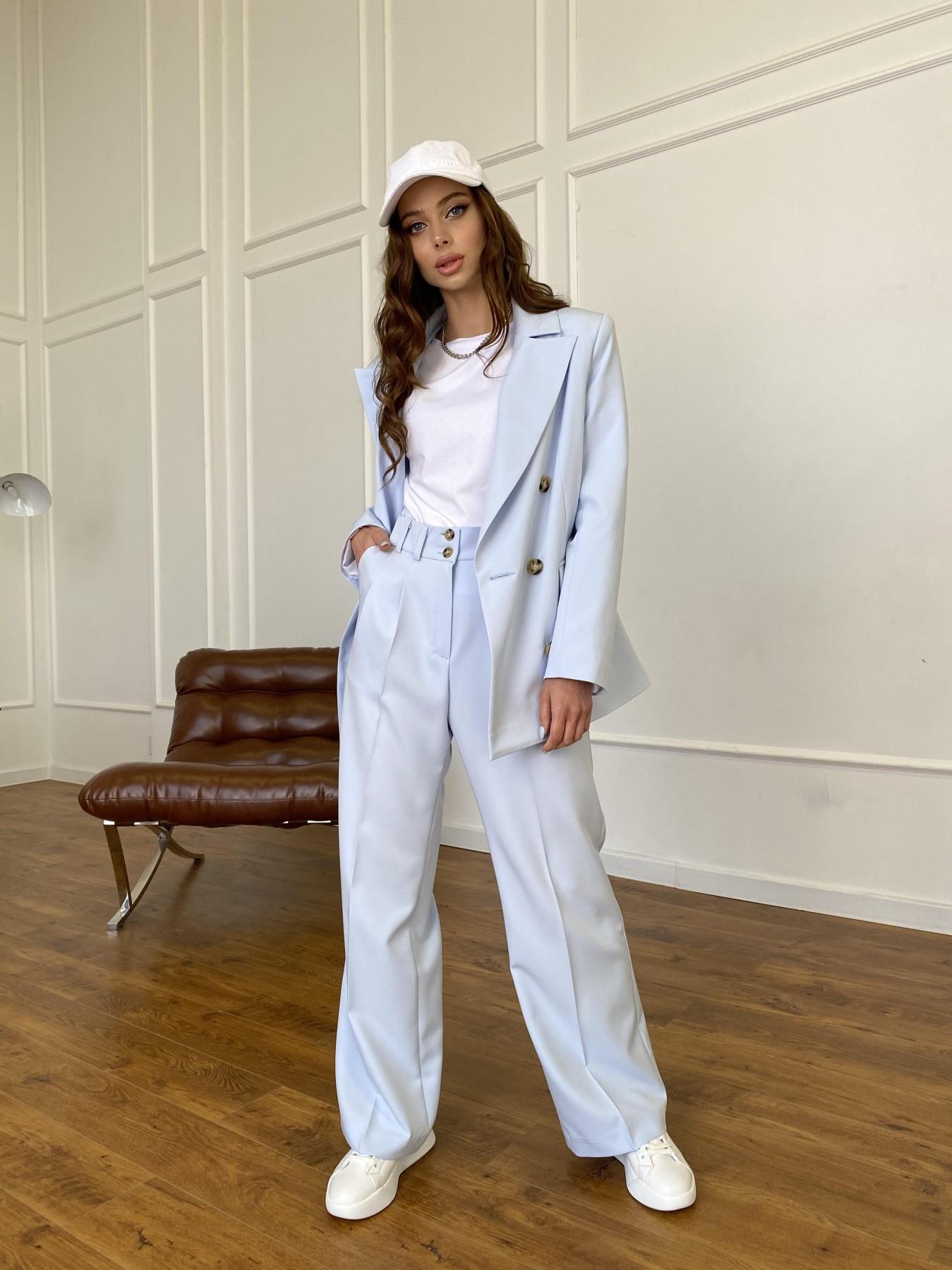 Белисимо жакет из костюмной ткани  стрейч 11192 АРТ. 47697 Цвет: Голубой - фото 6, интернет магазин tm-modus.ru