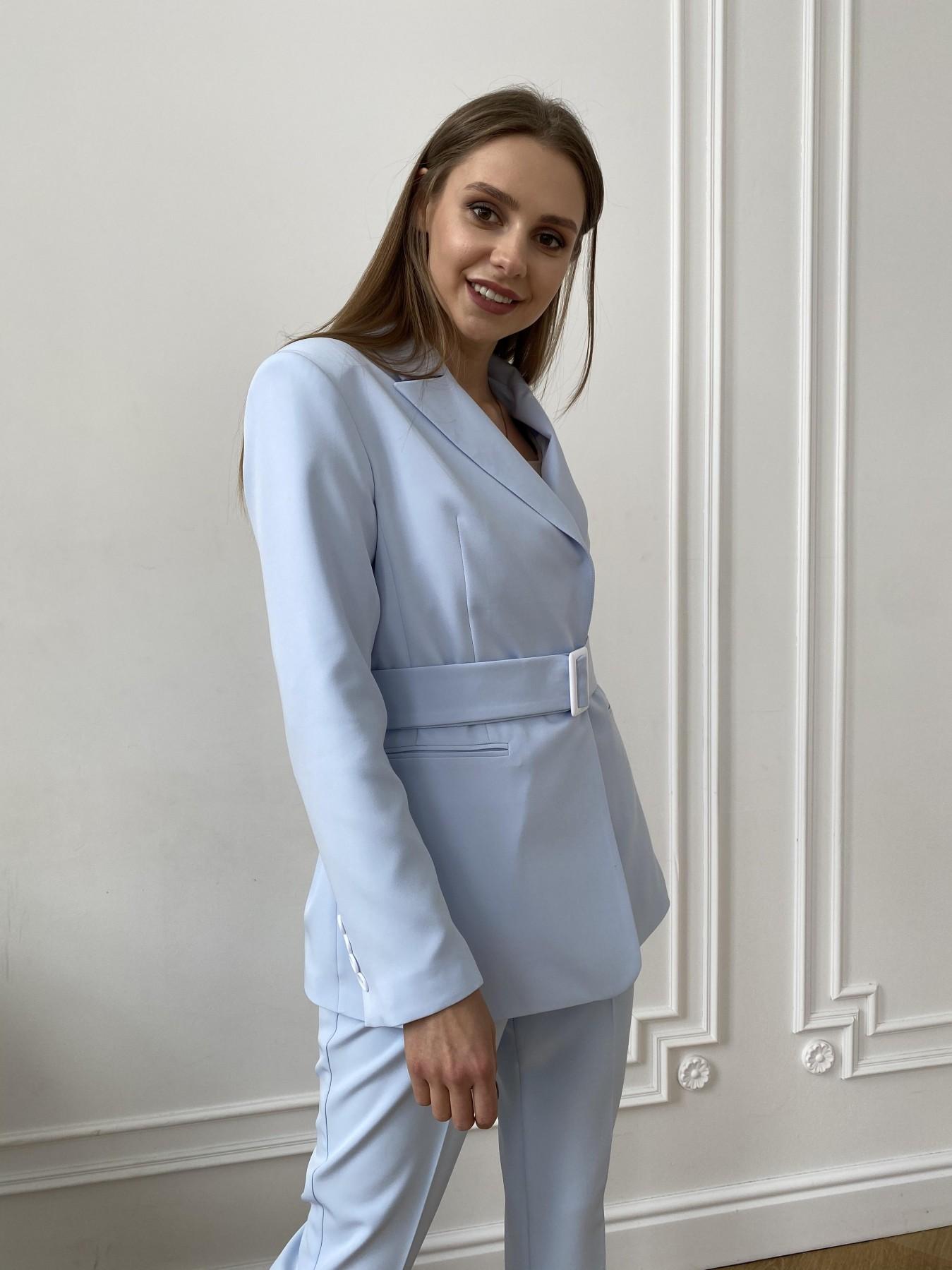 Китон жакет  костюмка стрейч 11131 АРТ. 47629 Цвет: Голубой - фото 7, интернет магазин tm-modus.ru