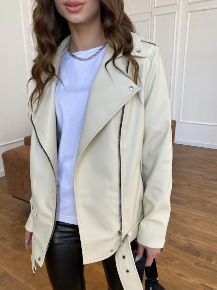 """Купить """"Босс"""" куртка из экокожи прокатанной  11173 оптом и в розницу"""