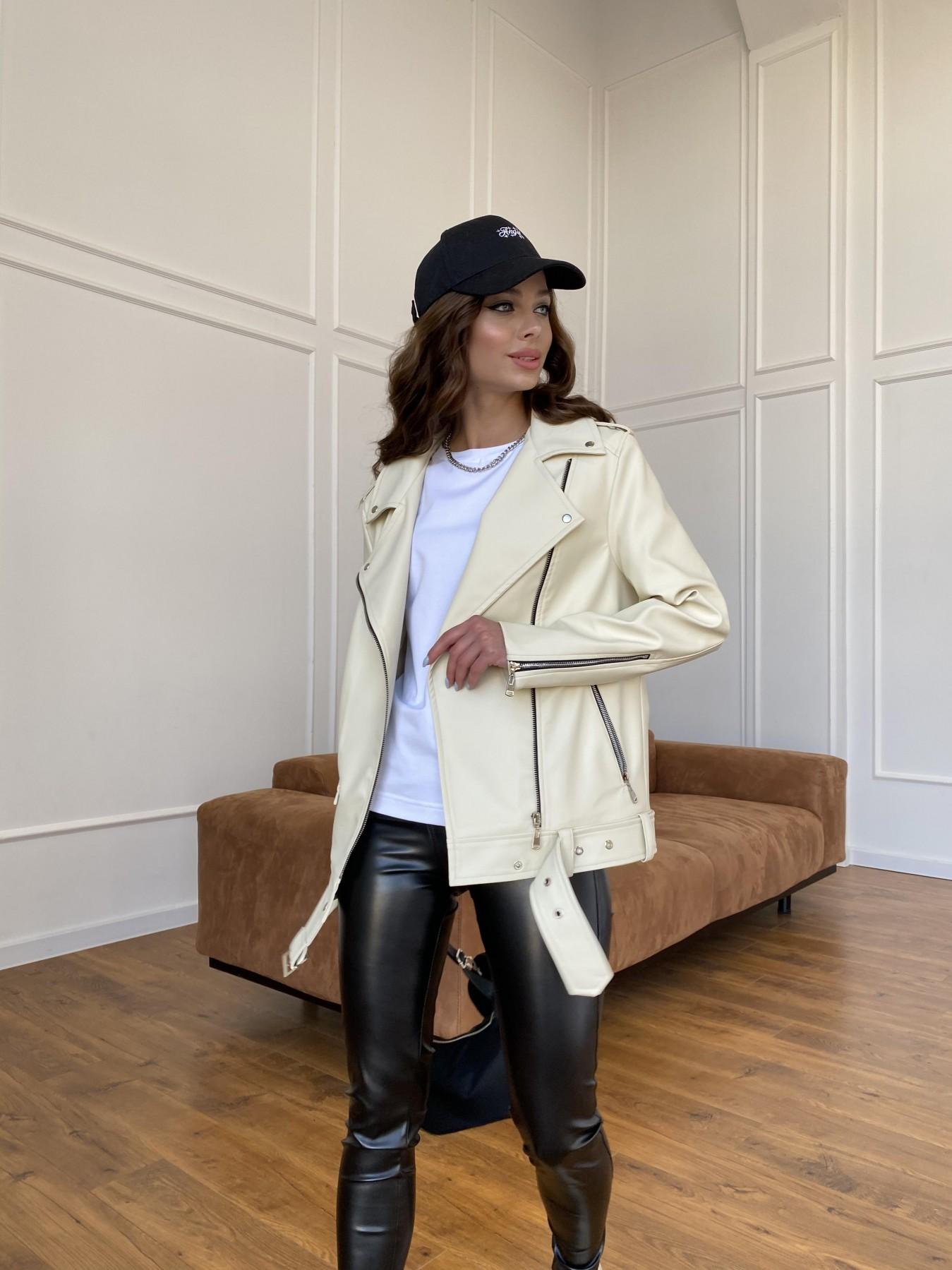 куртки демисезонные женские Харьков Босс куртка из экокожи прокатанной  11173