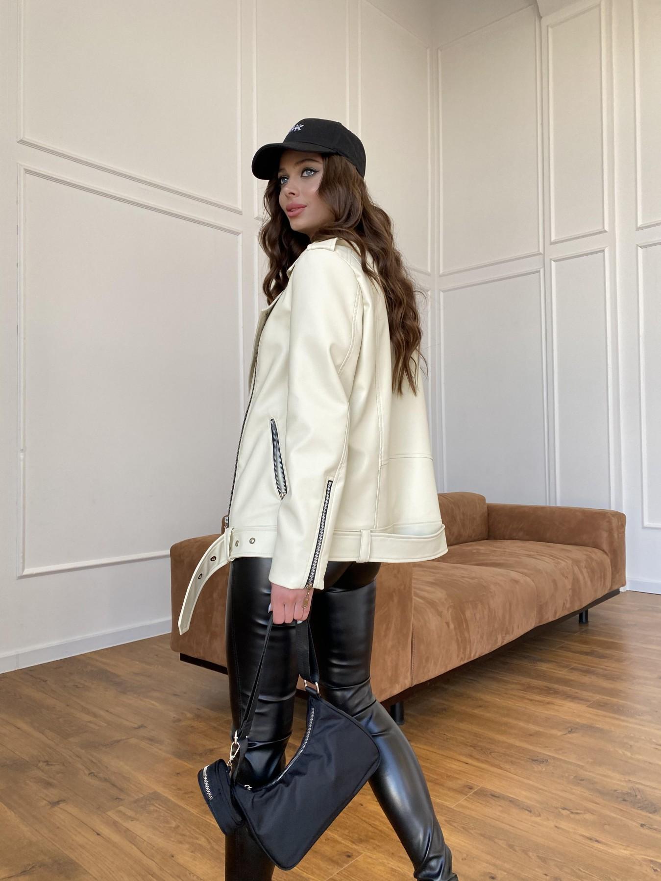 Босс куртка из экокожи прокатанной  11173 АРТ. 47771 Цвет: Бежевый Светлый - фото 5, интернет магазин tm-modus.ru