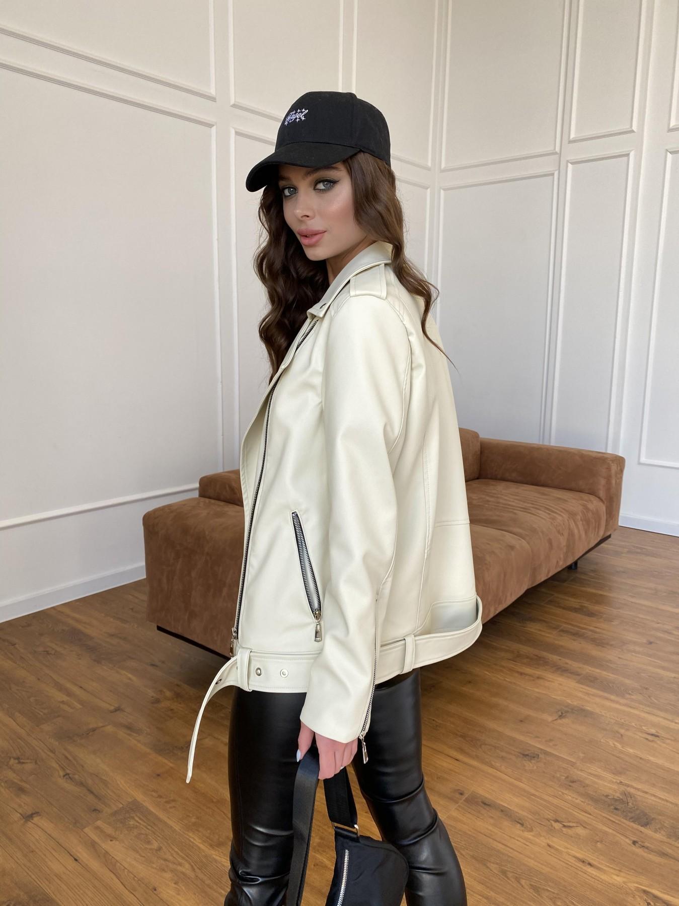 Босс куртка из экокожи прокатанной  11173 АРТ. 47771 Цвет: Бежевый Светлый - фото 6, интернет магазин tm-modus.ru