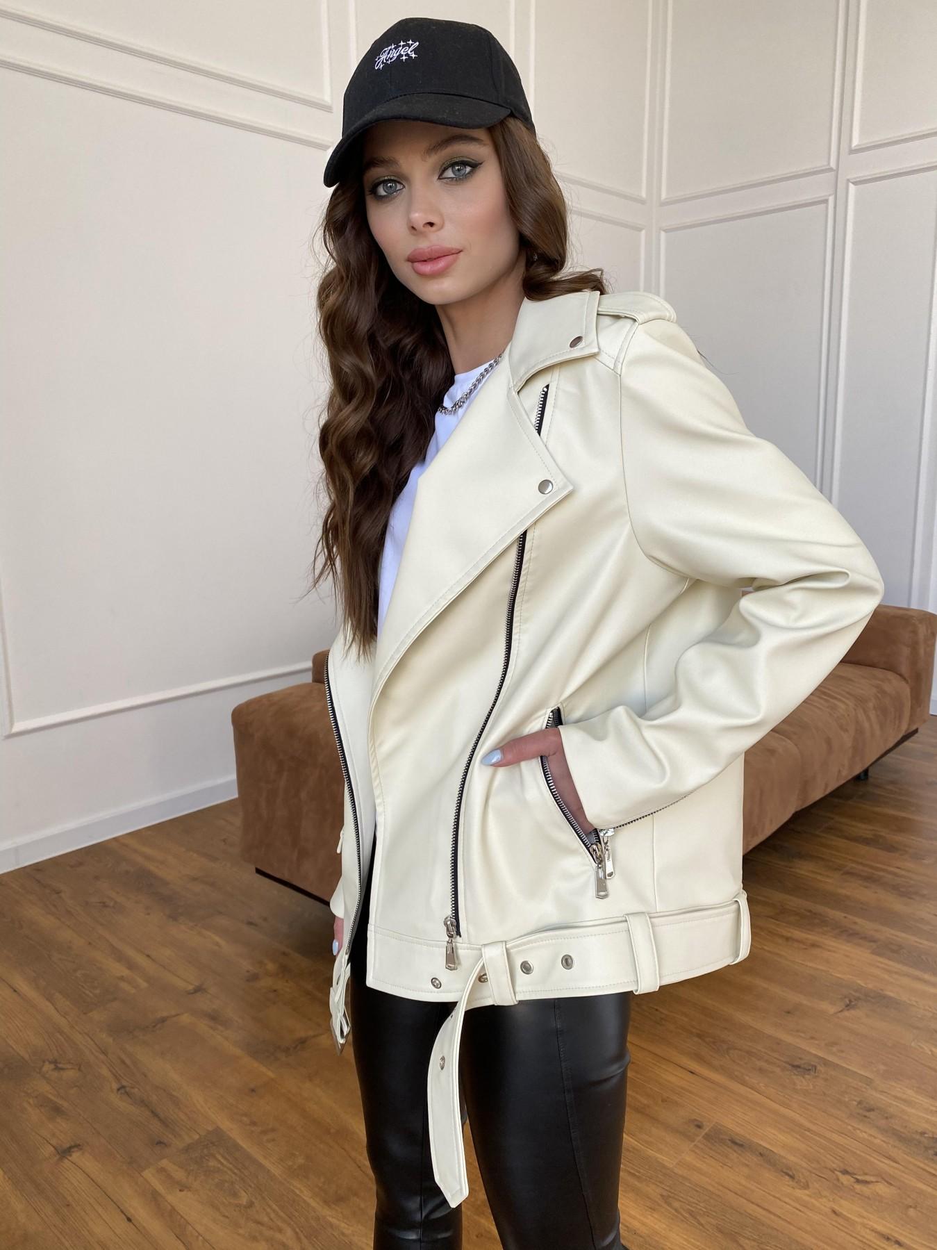 Босс куртка из экокожи прокатанной  11173 АРТ. 47771 Цвет: Бежевый Светлый - фото 7, интернет магазин tm-modus.ru