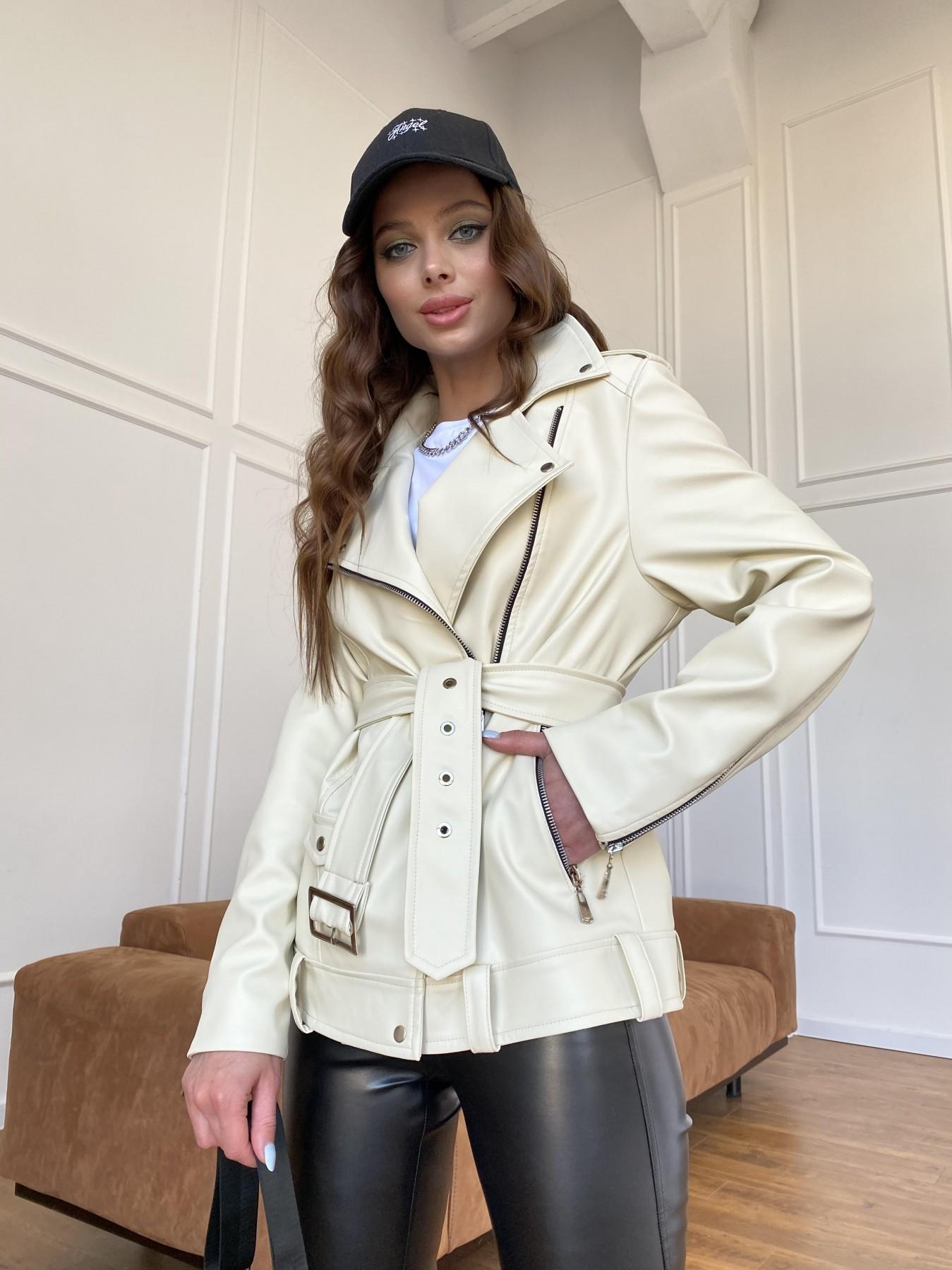 Босс куртка из экокожи прокатанной  11173 АРТ. 47771 Цвет: Бежевый Светлый - фото 9, интернет магазин tm-modus.ru