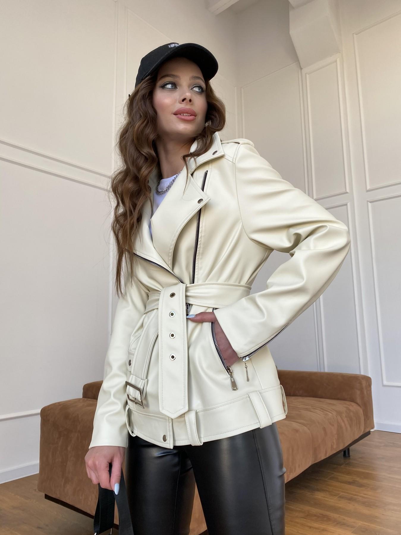 Босс куртка из экокожи прокатанной  11173 АРТ. 47771 Цвет: Бежевый Светлый - фото 10, интернет магазин tm-modus.ru