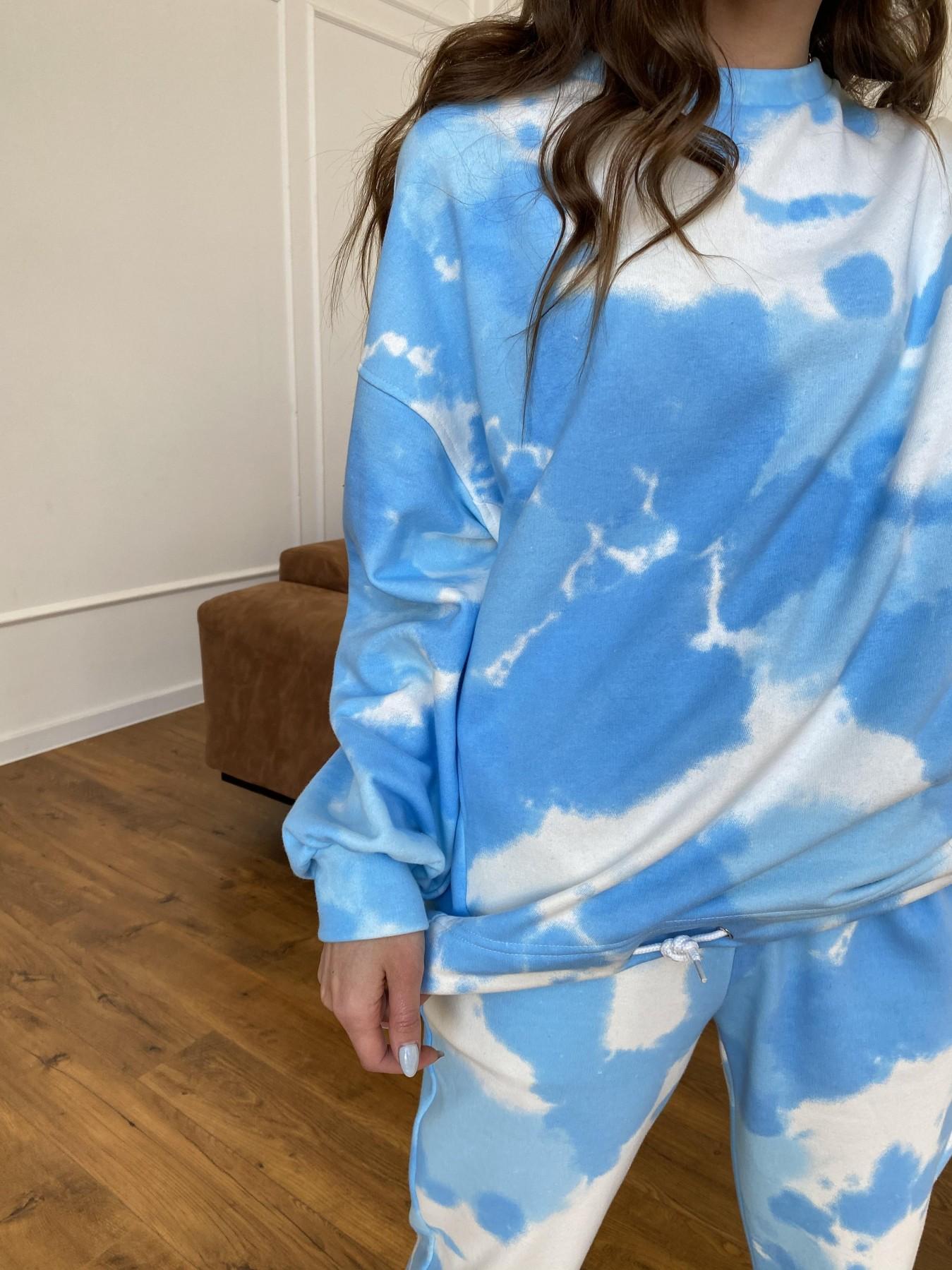 Скай костюм c принтом из 3х нитки 11248 АРТ. 47769 Цвет: Молоко/голубойТайДай - фото 5, интернет магазин tm-modus.ru