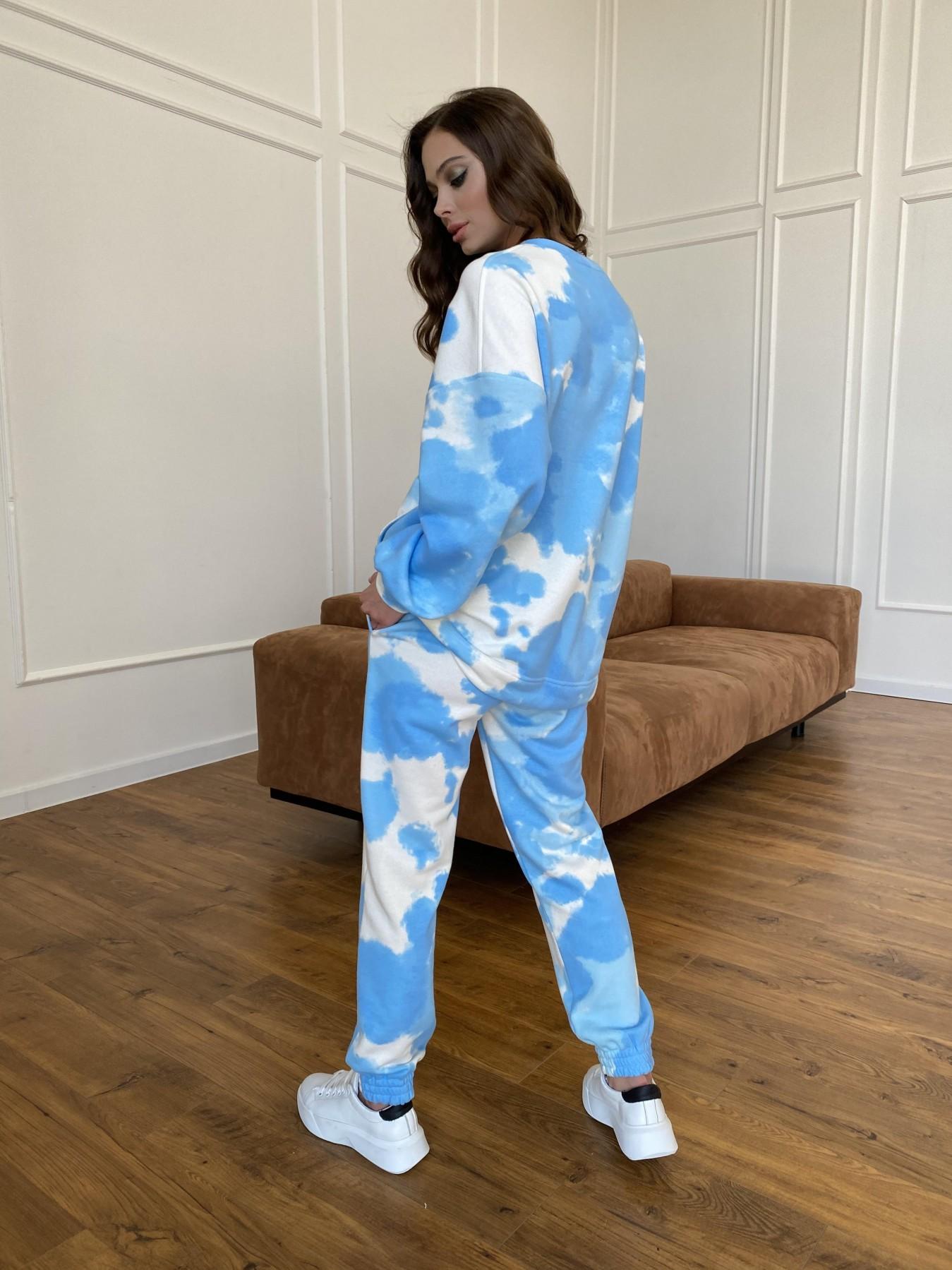 Скай костюм c принтом из 3х нитки 11248 АРТ. 47769 Цвет: Молоко/голубойТайДай - фото 9, интернет магазин tm-modus.ru