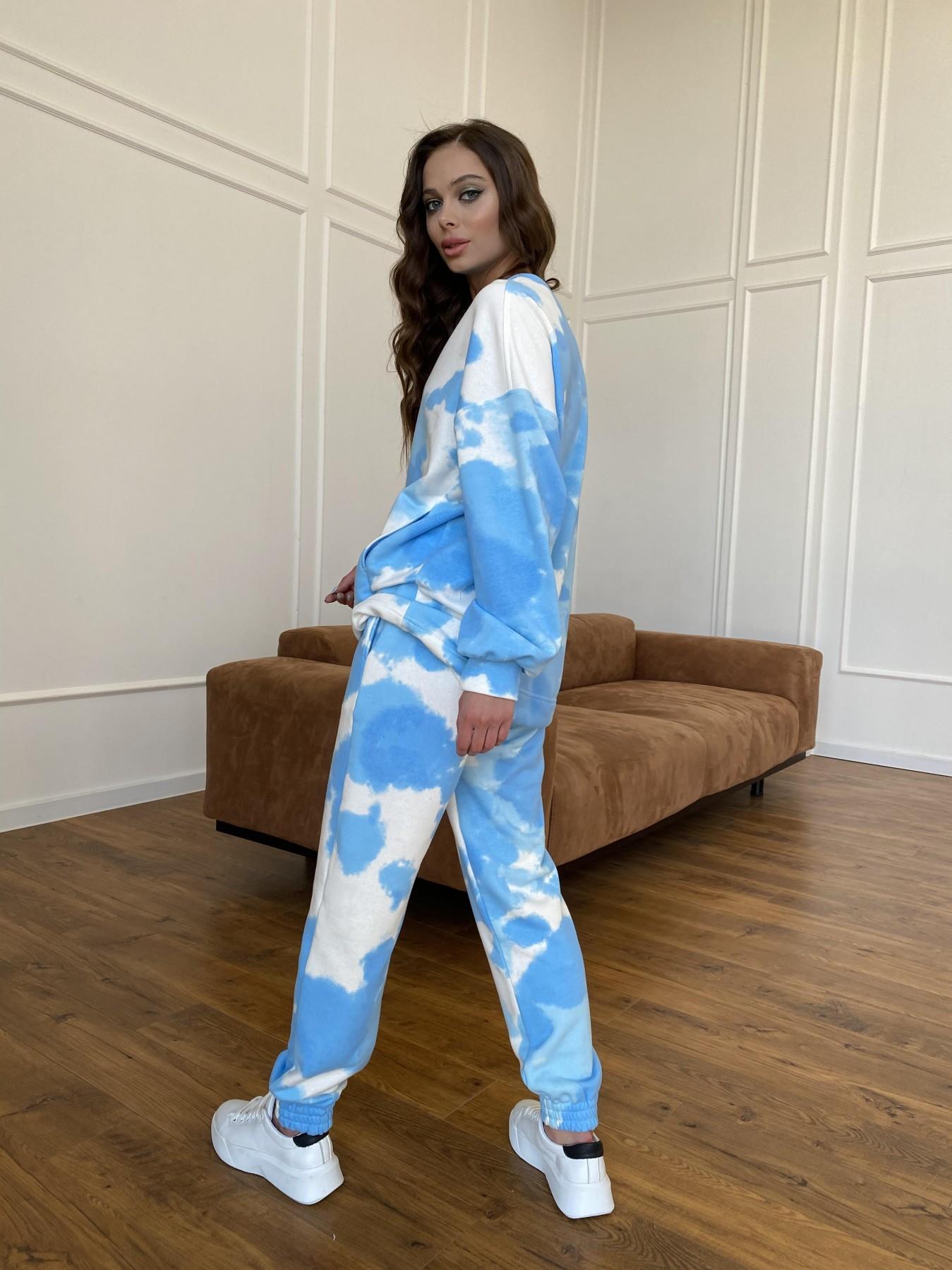 Скай костюм c принтом из 3х нитки 11248 АРТ. 47769 Цвет: Молоко/голубойТайДай - фото 10, интернет магазин tm-modus.ru