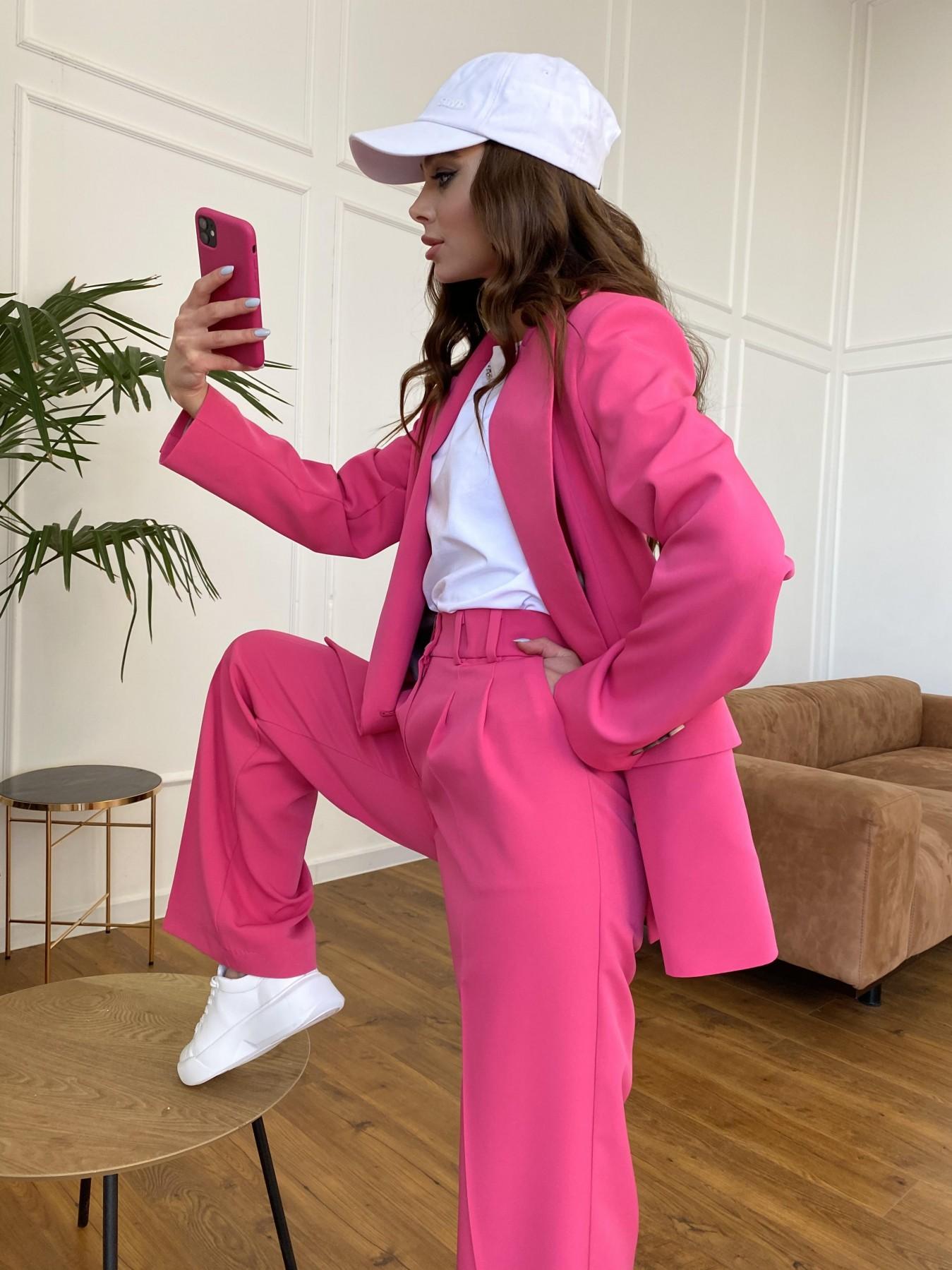 Белисимо  костюм стрейч из костюмной ткани 11217 АРТ. 47720 Цвет: Малиновый - фото 2, интернет магазин tm-modus.ru