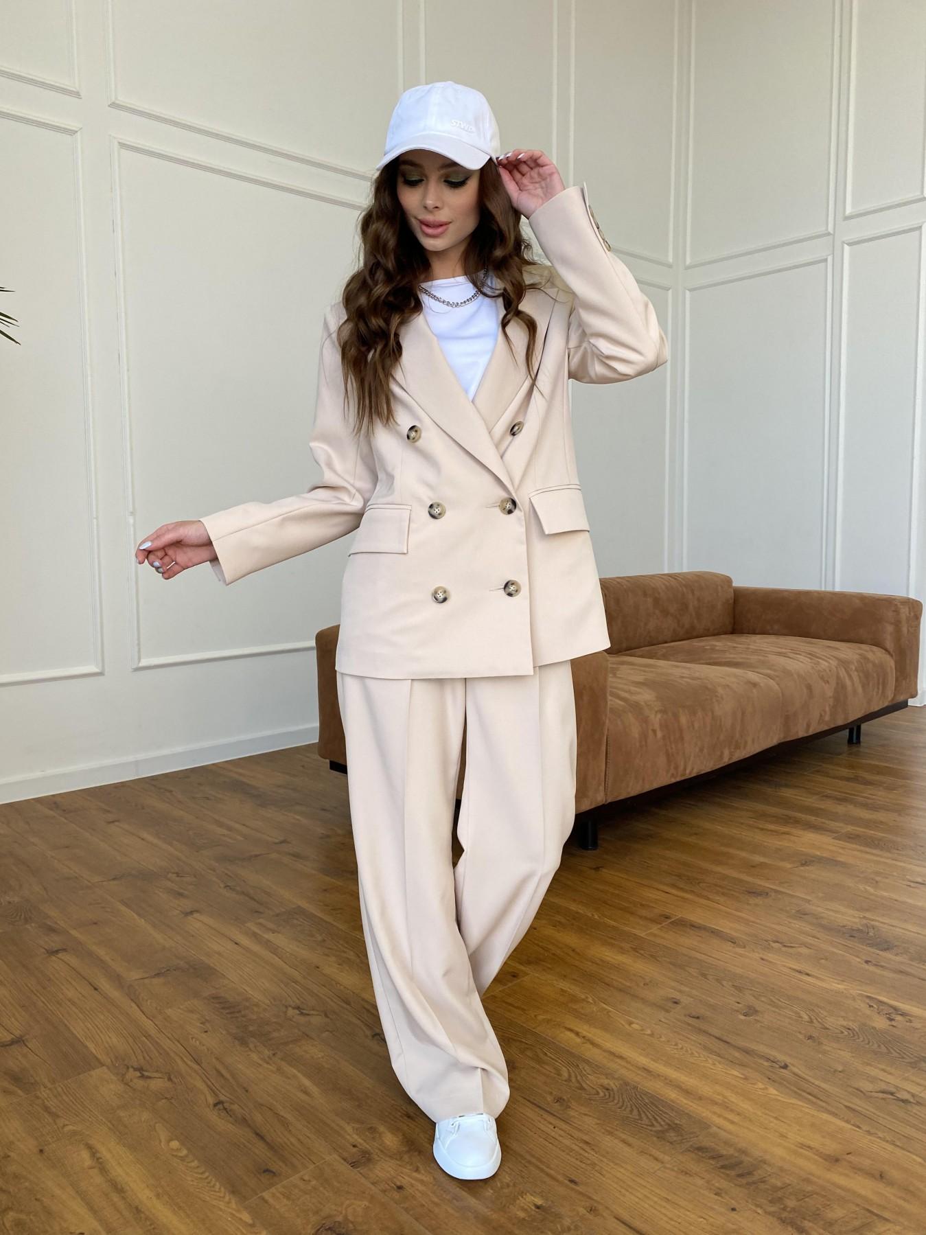 Белисимо  костюм стрейч из костюмной ткани 11217 АРТ. 47721 Цвет: Бежевый - фото 3, интернет магазин tm-modus.ru