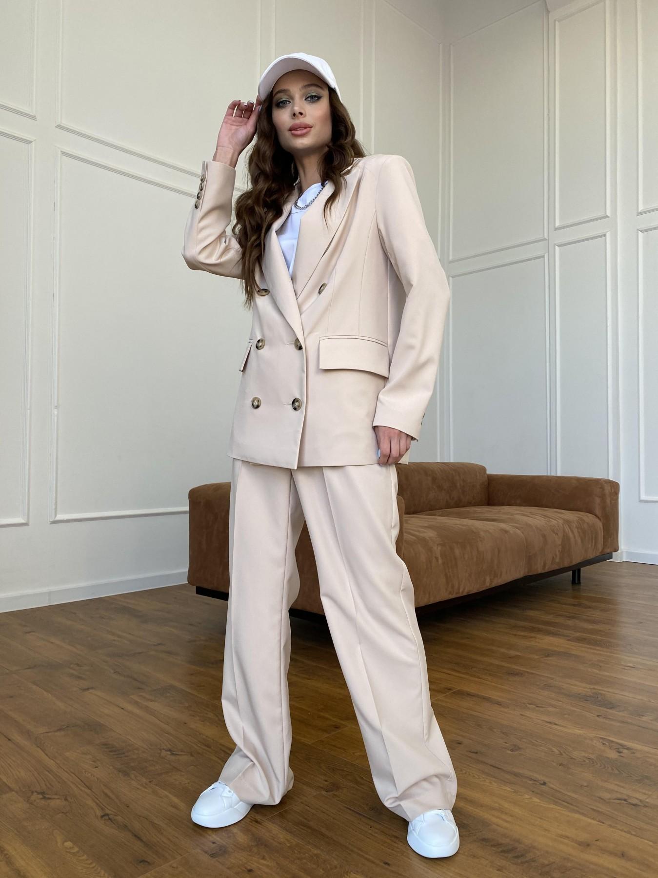 Белисимо  костюм стрейч из костюмной ткани 11217 АРТ. 47721 Цвет: Бежевый - фото 4, интернет магазин tm-modus.ru