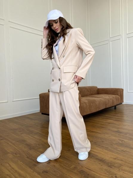 Белисимо  костюм стрейч из костюмной ткани 11217 Цвет: Бежевый
