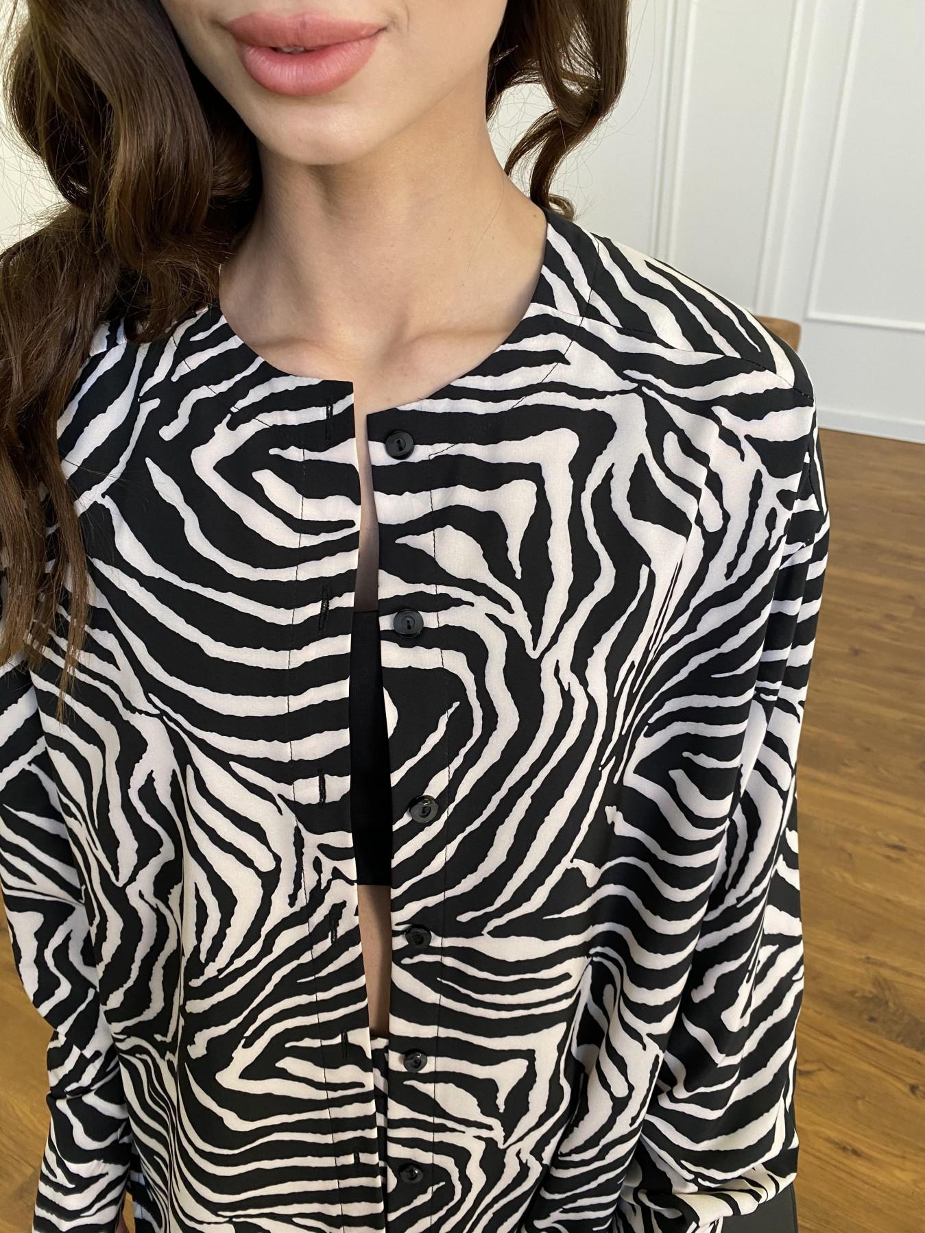 Колибри костюм софт с принтом 11244 АРТ. 47758 Цвет: Черный/молоко, Зебра - фото 4, интернет магазин tm-modus.ru