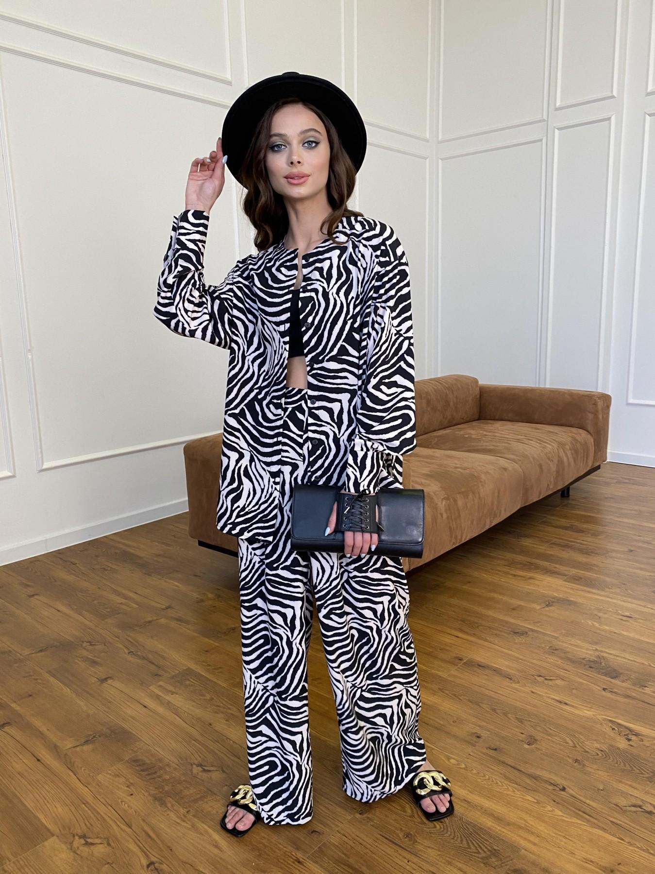 Колибри костюм софт с принтом 11244 АРТ. 47758 Цвет: Черный/молоко, Зебра - фото 5, интернет магазин tm-modus.ru