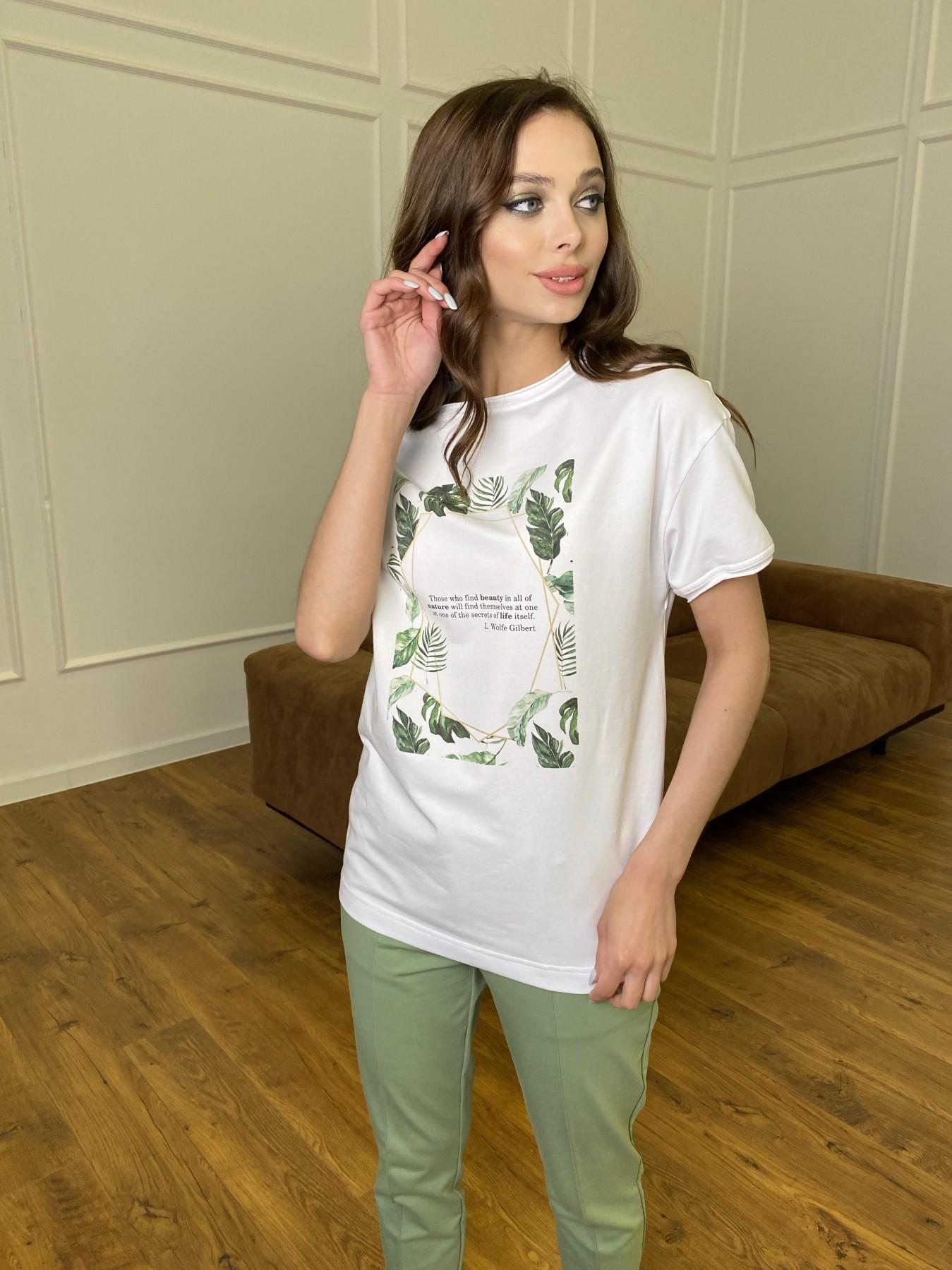 Тропик футболка из вискозы однотонная хлопок 11240 АРТ. 47761 Цвет: Белый - фото 1, интернет магазин tm-modus.ru