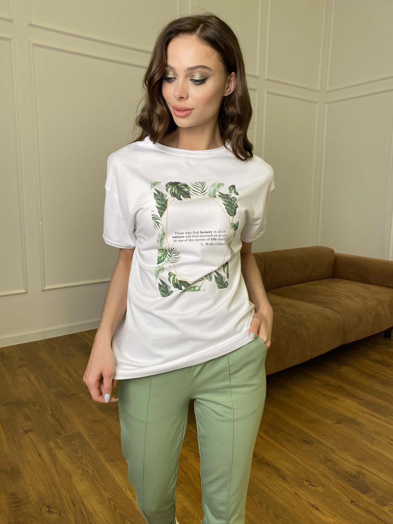 Тропик футболка из вискозы однотонная хлопок 11240 АРТ. 47761 Цвет: Белый - фото 3, интернет магазин tm-modus.ru