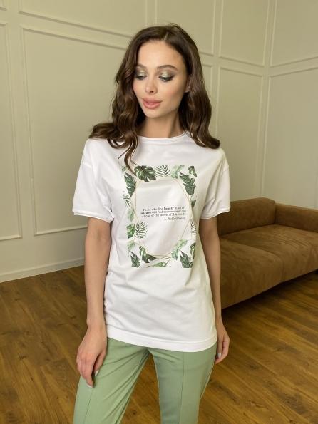 """Купить """"Тропик"""" футболка из вискозы однотонная хлопок 11240 оптом и в розницу"""