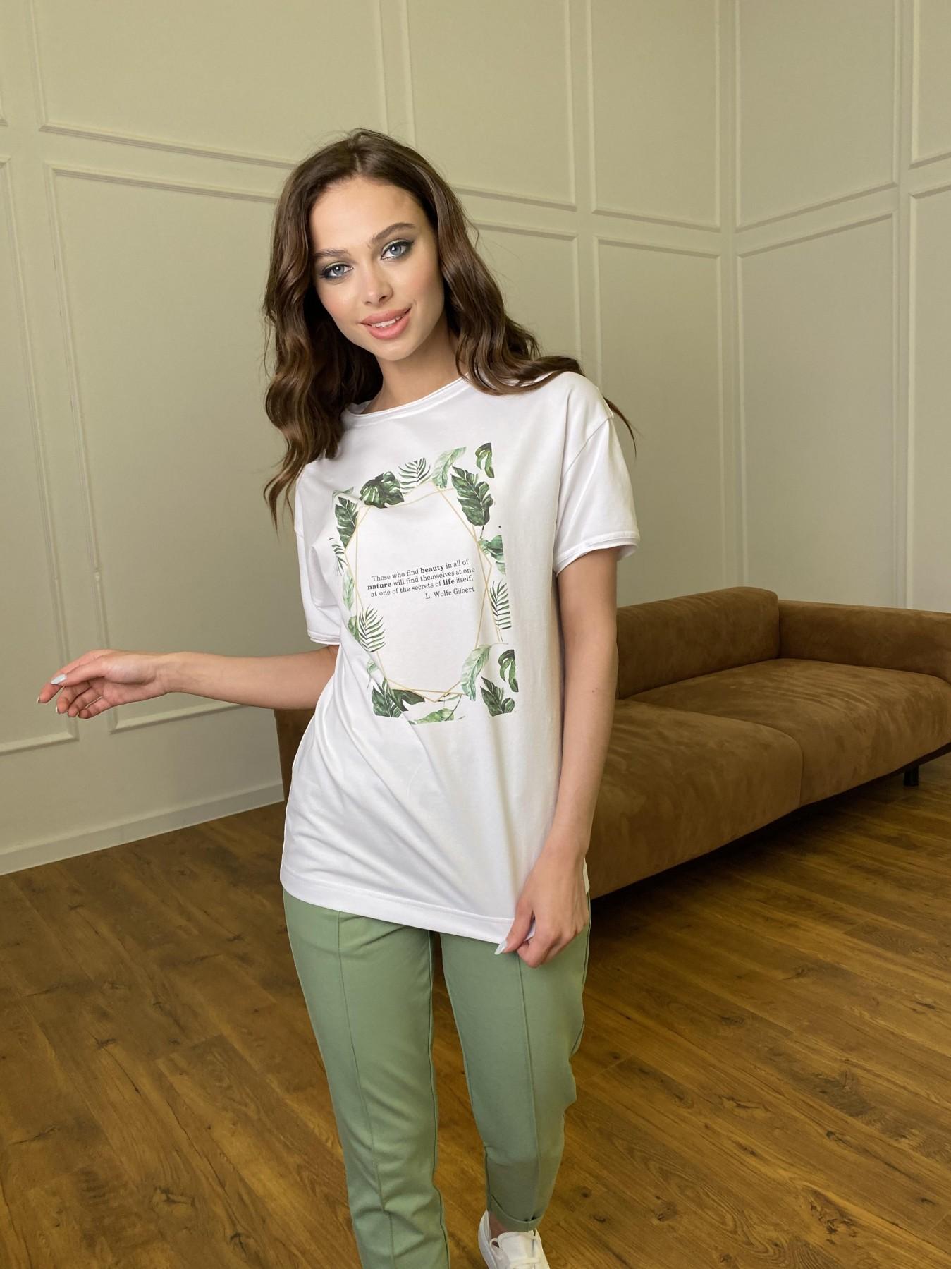 Тропик футболка из вискозы однотонная хлопок 11240 АРТ. 47761 Цвет: Белый - фото 5, интернет магазин tm-modus.ru
