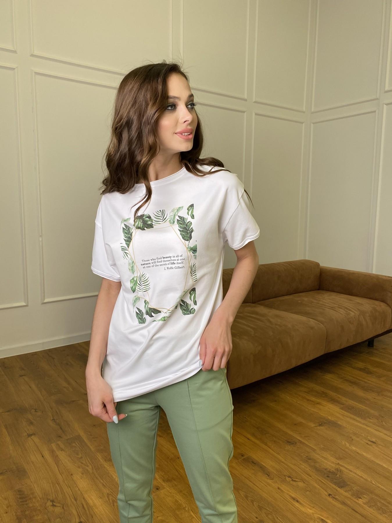 Тропик футболка из вискозы однотонная хлопок 11240 АРТ. 47761 Цвет: Белый - фото 6, интернет магазин tm-modus.ru