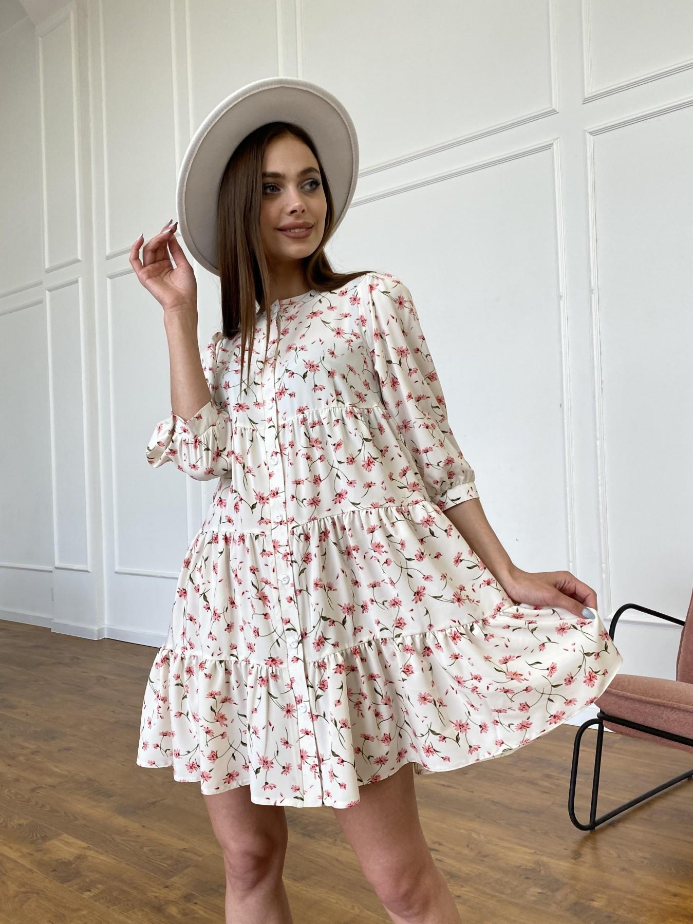 Платья оптом от производителя Берри платье из ткани софт в принт 11211