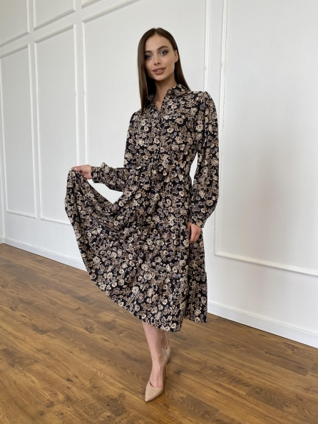 "Купити ""Лилия"" платье из софта с принтом 11108 оптом і в роздріб"