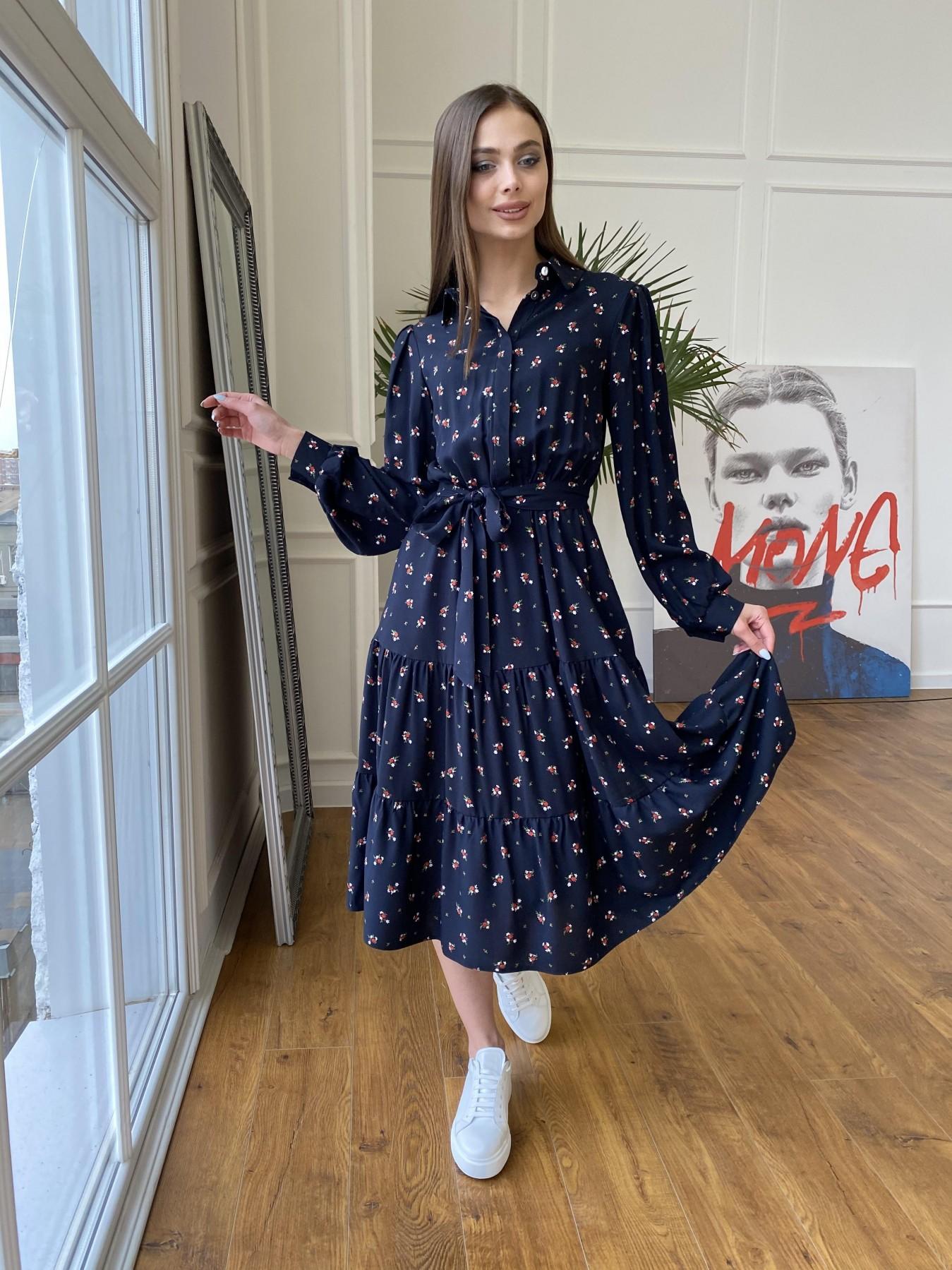 Трикотажные платья оптом Лилия платье штапель в принт 10879