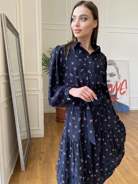 """Купить """"Лилия"""" платье штапель в принт 10879 оптом и в розницу"""