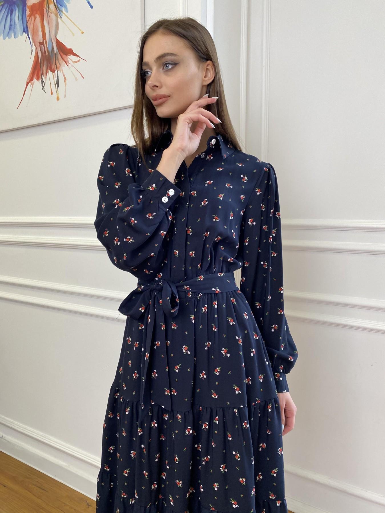 Лилия платье штапель в принт 10879 АРТ. 47753 Цвет: ЦветБукетМелТ.син/красн - фото 8, интернет магазин tm-modus.ru