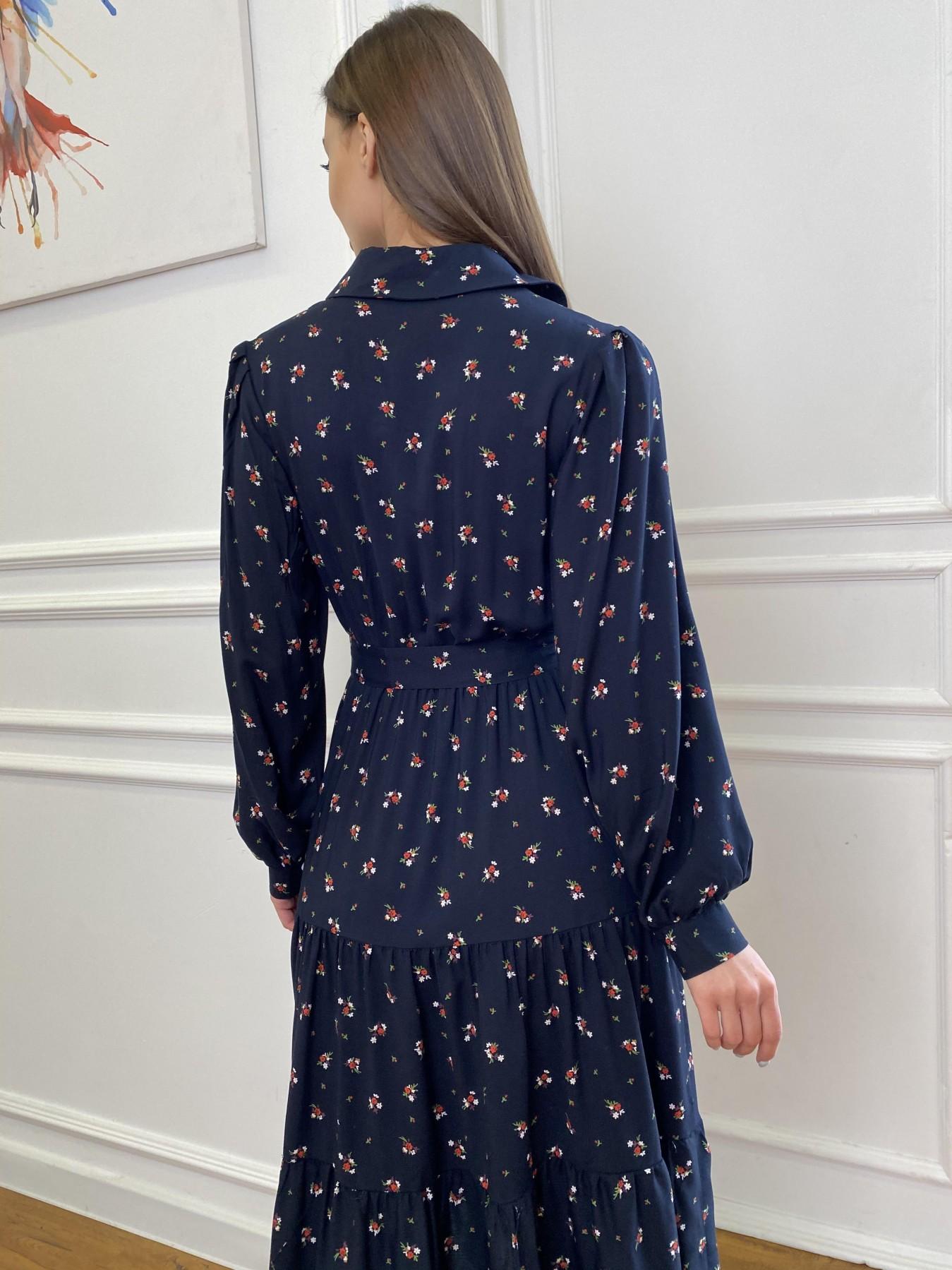 Лилия платье штапель в принт 10879 АРТ. 47753 Цвет: ЦветБукетМелТ.син/красн - фото 11, интернет магазин tm-modus.ru