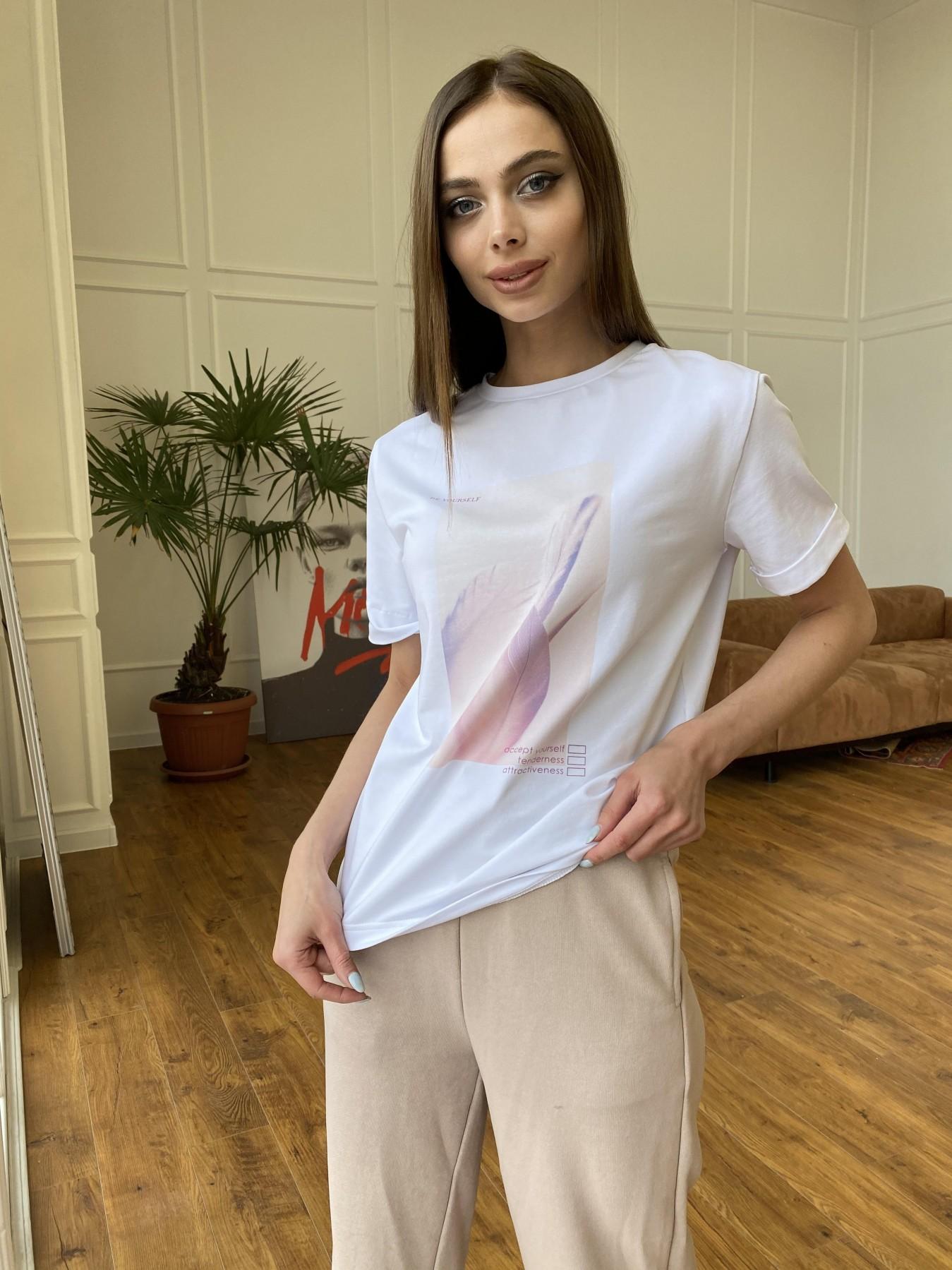 Майки женские купить Украина Перо футболка из вискозы однотонная хлопок 11230