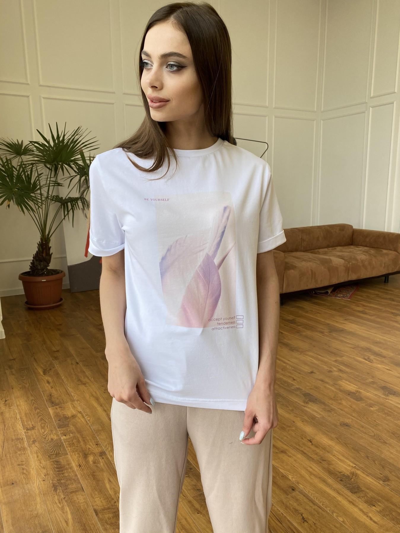 Перо футболка из вискозы однотонная хлопок 11230 АРТ. 47751 Цвет: Белый - фото 7, интернет магазин tm-modus.ru