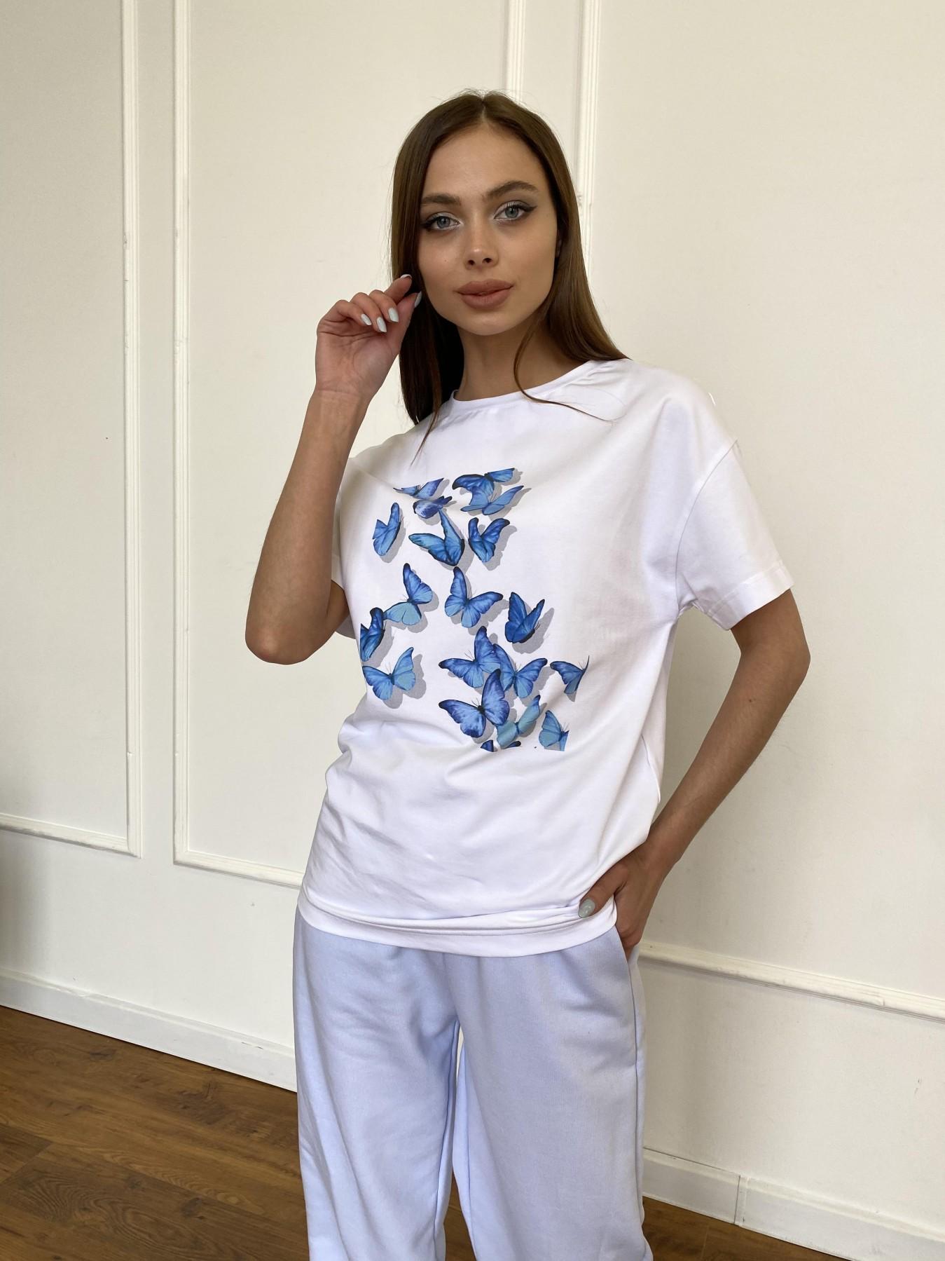 Женские футболки оптом от Modus Бабочки футболка из вискозы однотонная хлопок 11232