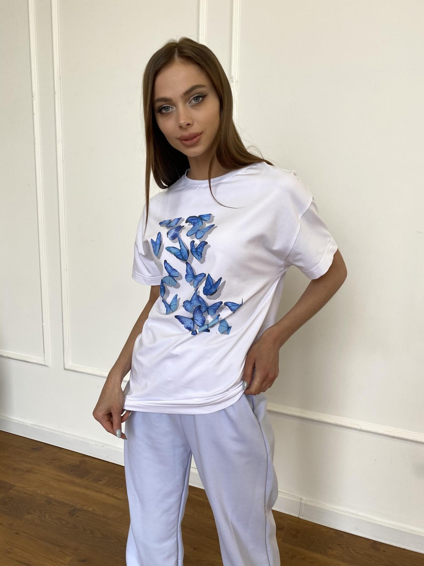 Бабочки футболка из вискозы однотонная хлопок 11232 АРТ. 47752 Цвет: Белый - фото 4, интернет магазин tm-modus.ru