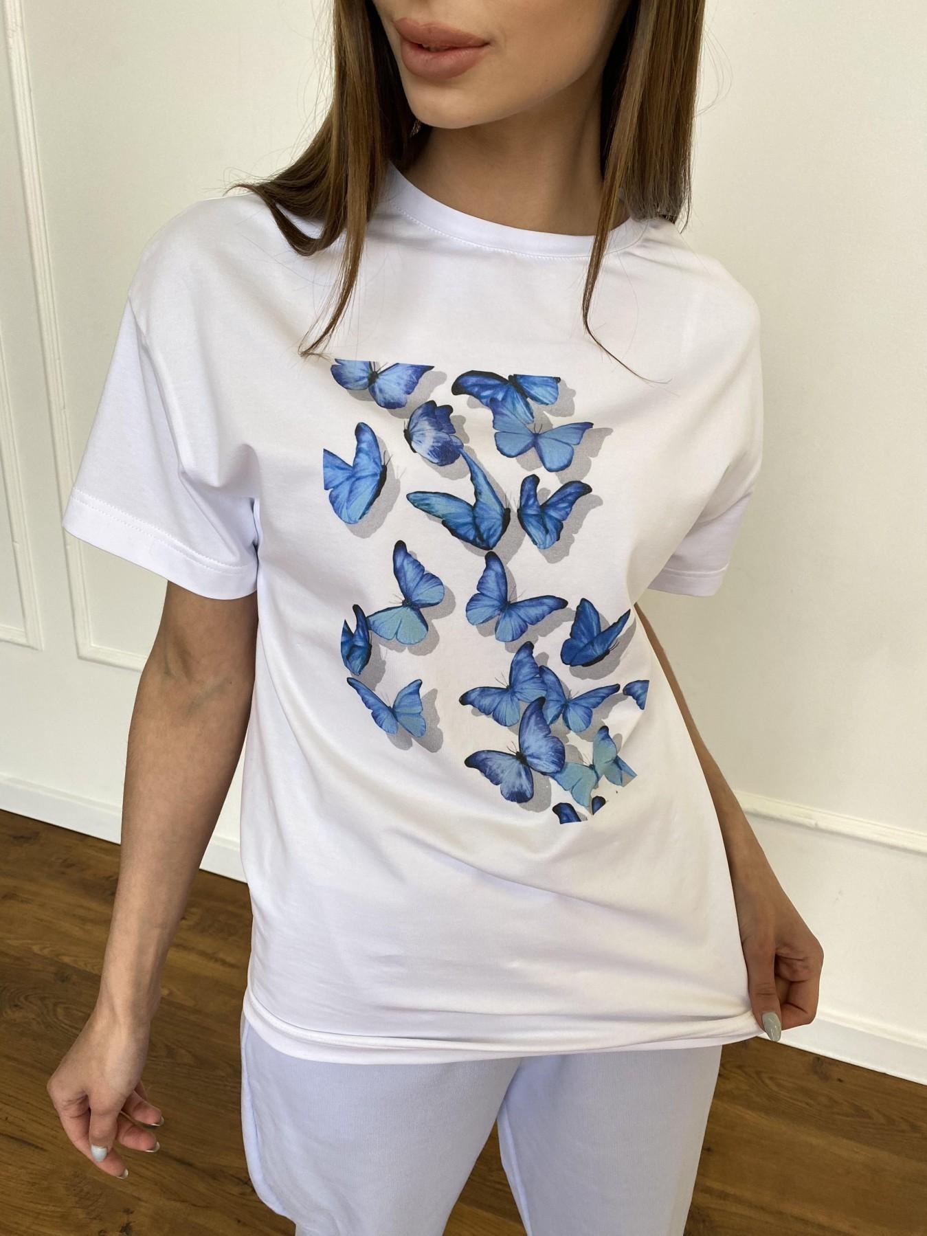 Бабочки футболка из вискозы однотонная хлопок 11232 АРТ. 47752 Цвет: Белый - фото 5, интернет магазин tm-modus.ru