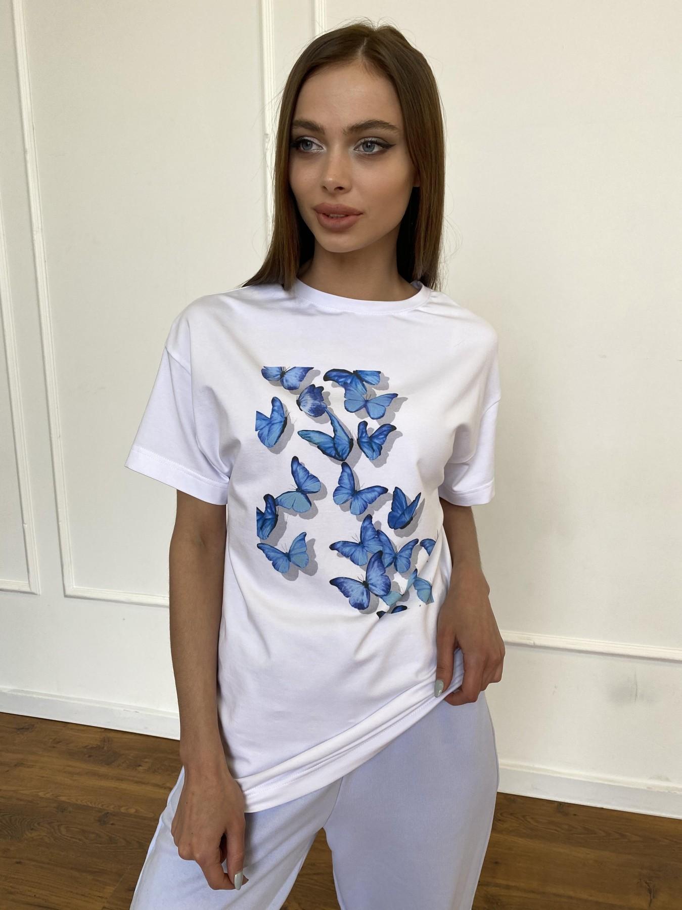 Бабочки футболка из вискозы однотонная хлопок 11232 АРТ. 47752 Цвет: Белый - фото 7, интернет магазин tm-modus.ru