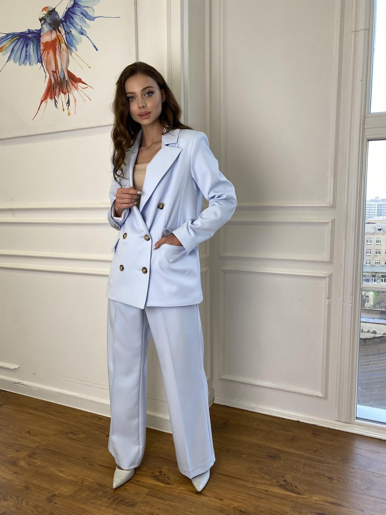 Белисимо  костюм стрейч из костюмной ткани 11217 АРТ. 47737 Цвет: Голубой - фото 3, интернет магазин tm-modus.ru