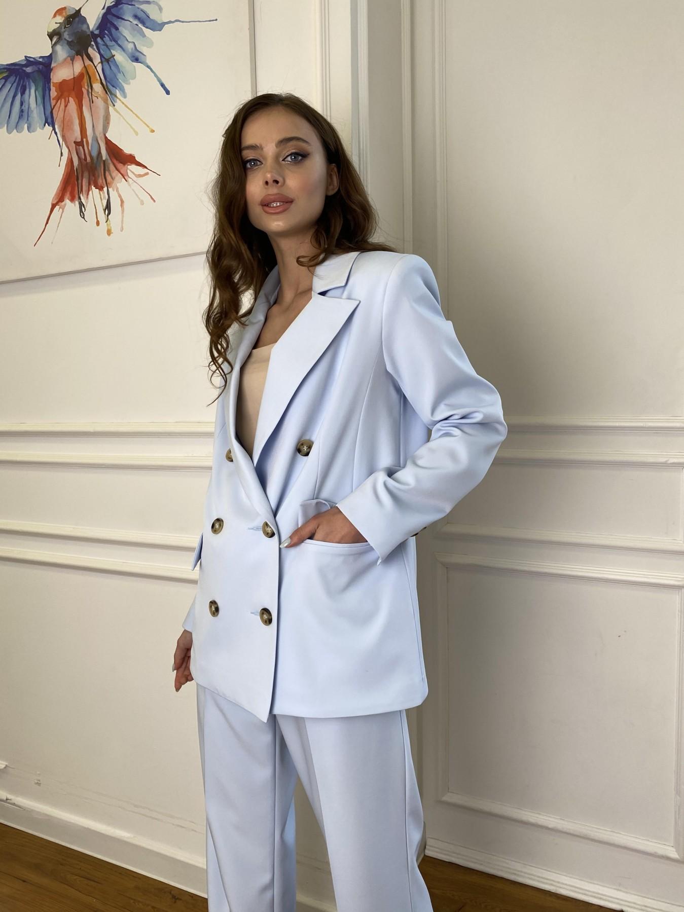 Белисимо  костюм стрейч из костюмной ткани 11217 АРТ. 47737 Цвет: Голубой - фото 4, интернет магазин tm-modus.ru