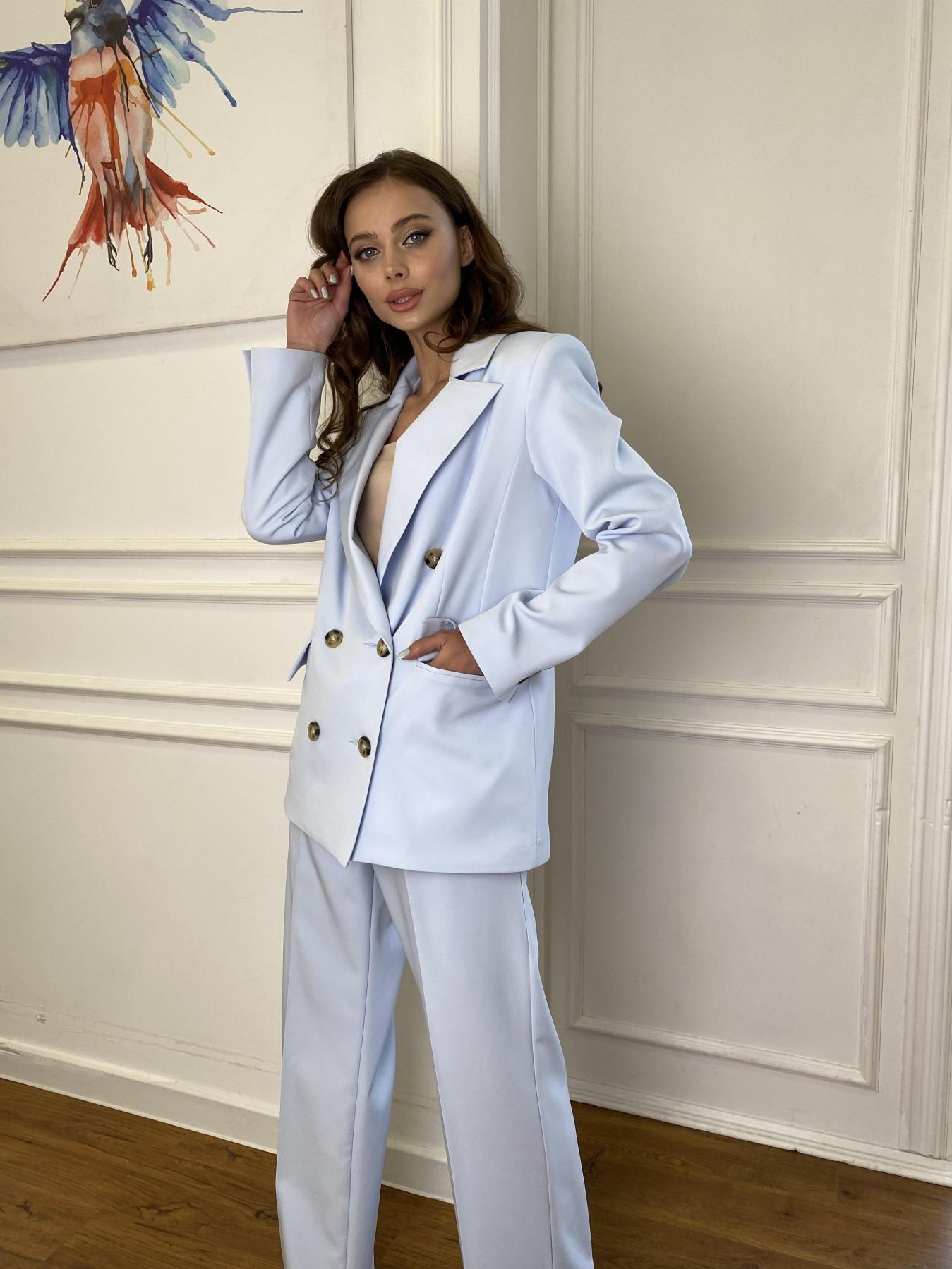 Белисимо  костюм стрейч из костюмной ткани 11217 АРТ. 47737 Цвет: Голубой - фото 5, интернет магазин tm-modus.ru