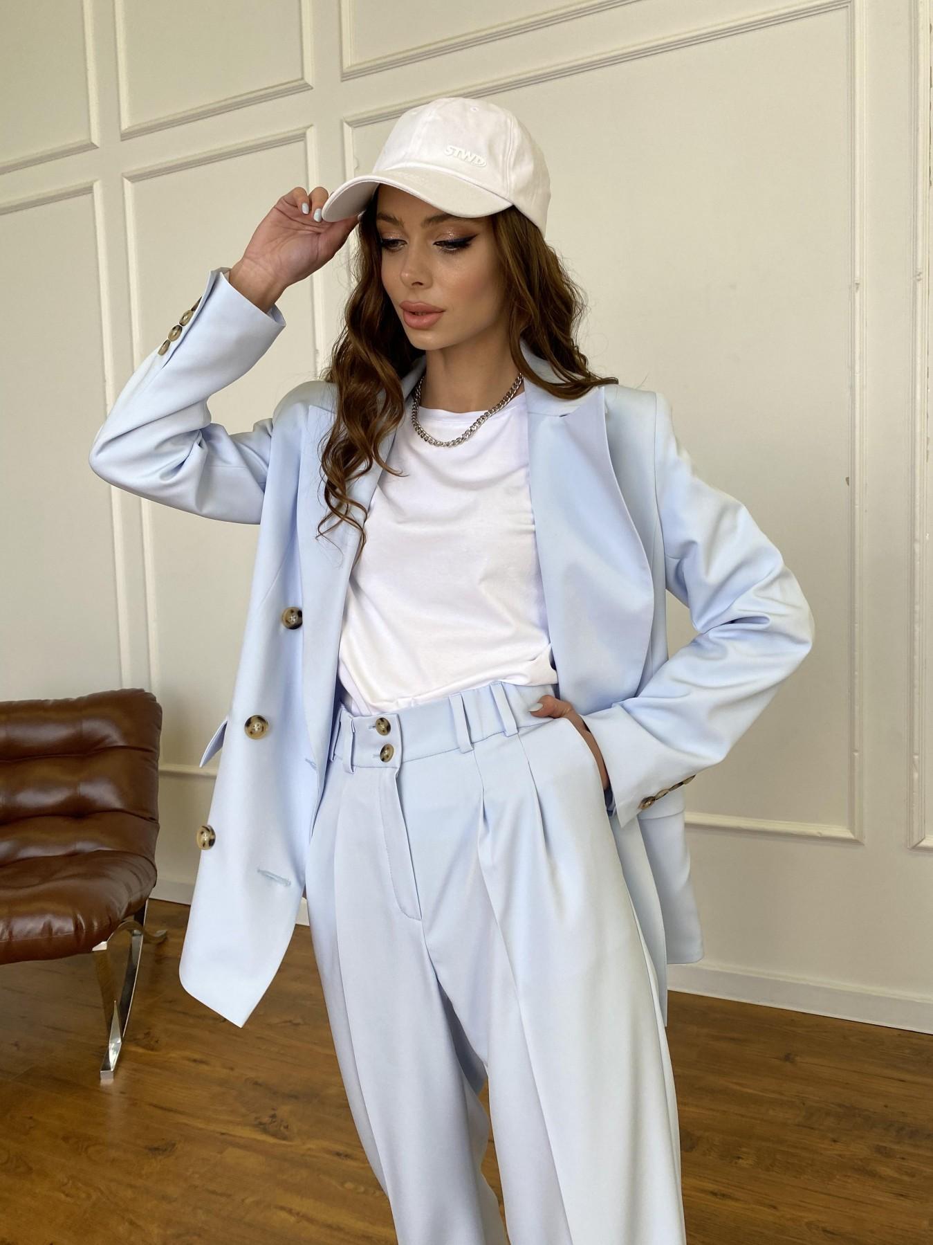 Белисимо  костюм стрейч из костюмной ткани 11217 АРТ. 47737 Цвет: Голубой - фото 11, интернет магазин tm-modus.ru