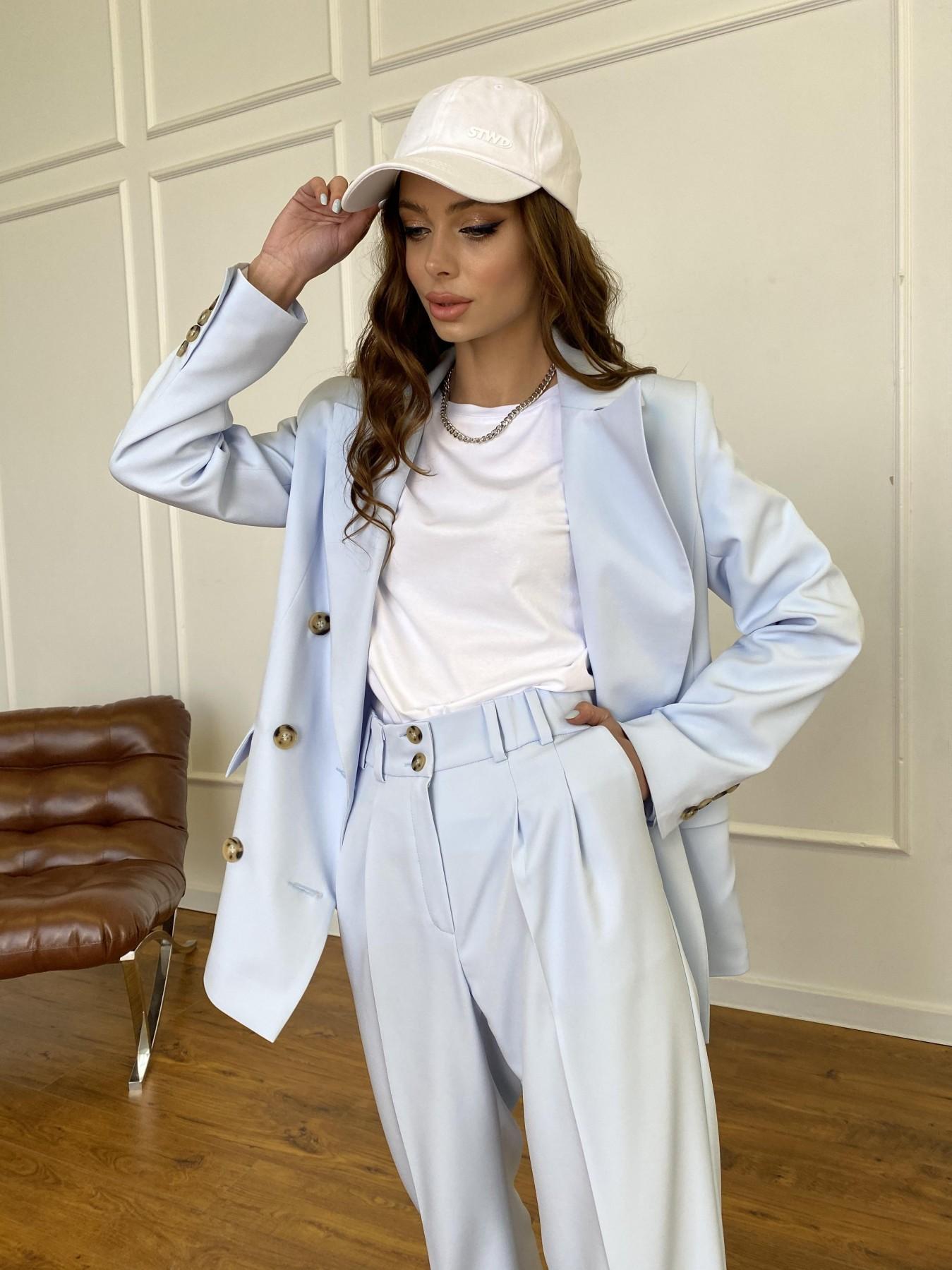 Белисимо  костюм стрейч из костюмной ткани 11217 АРТ. 47737 Цвет: Голубой - фото 12, интернет магазин tm-modus.ru