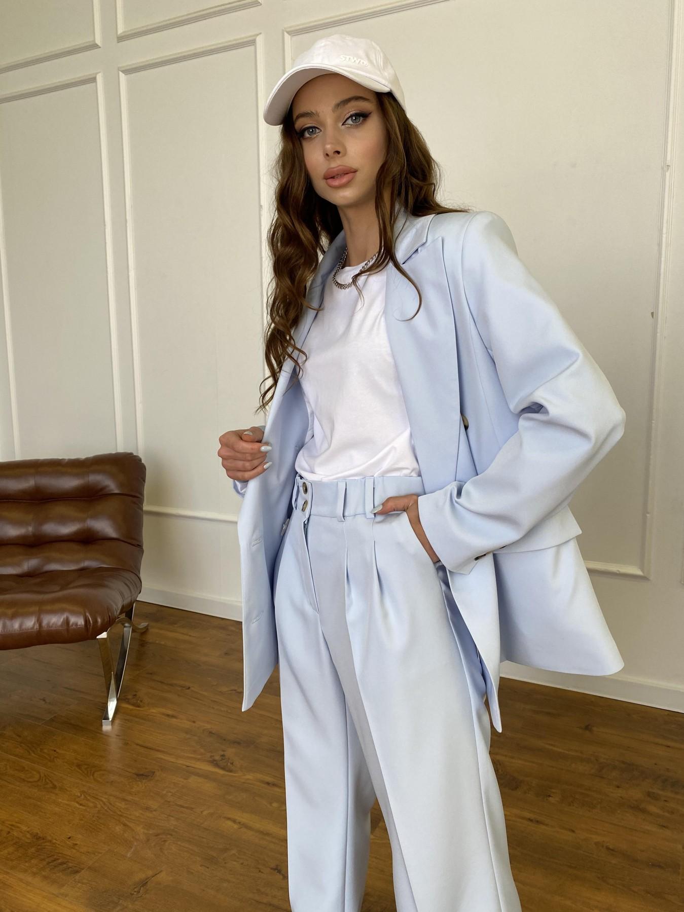 Белисимо  костюм стрейч из костюмной ткани 11217 АРТ. 47737 Цвет: Голубой - фото 13, интернет магазин tm-modus.ru