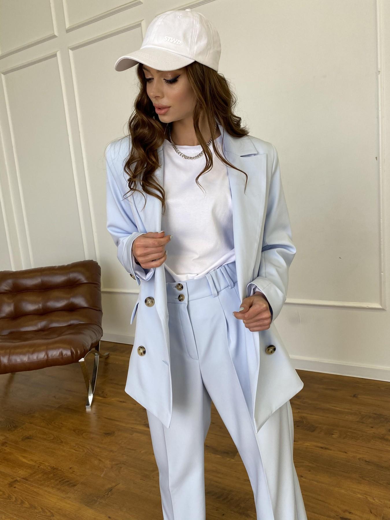 Белисимо  костюм стрейч из костюмной ткани 11217 АРТ. 47737 Цвет: Голубой - фото 15, интернет магазин tm-modus.ru