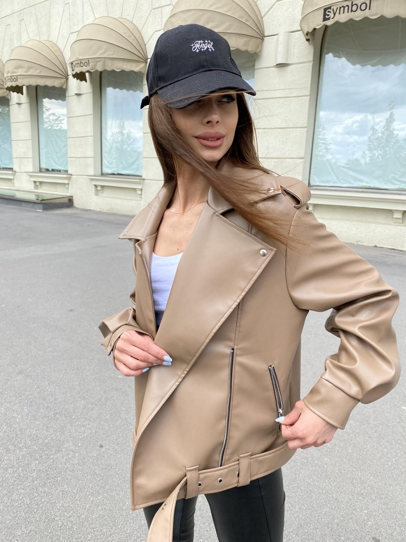 Фора куртка из экокожи прокатанная 11204 АРТ. 47789 Цвет: Бежевый Темный - фото 2, интернет магазин tm-modus.ru