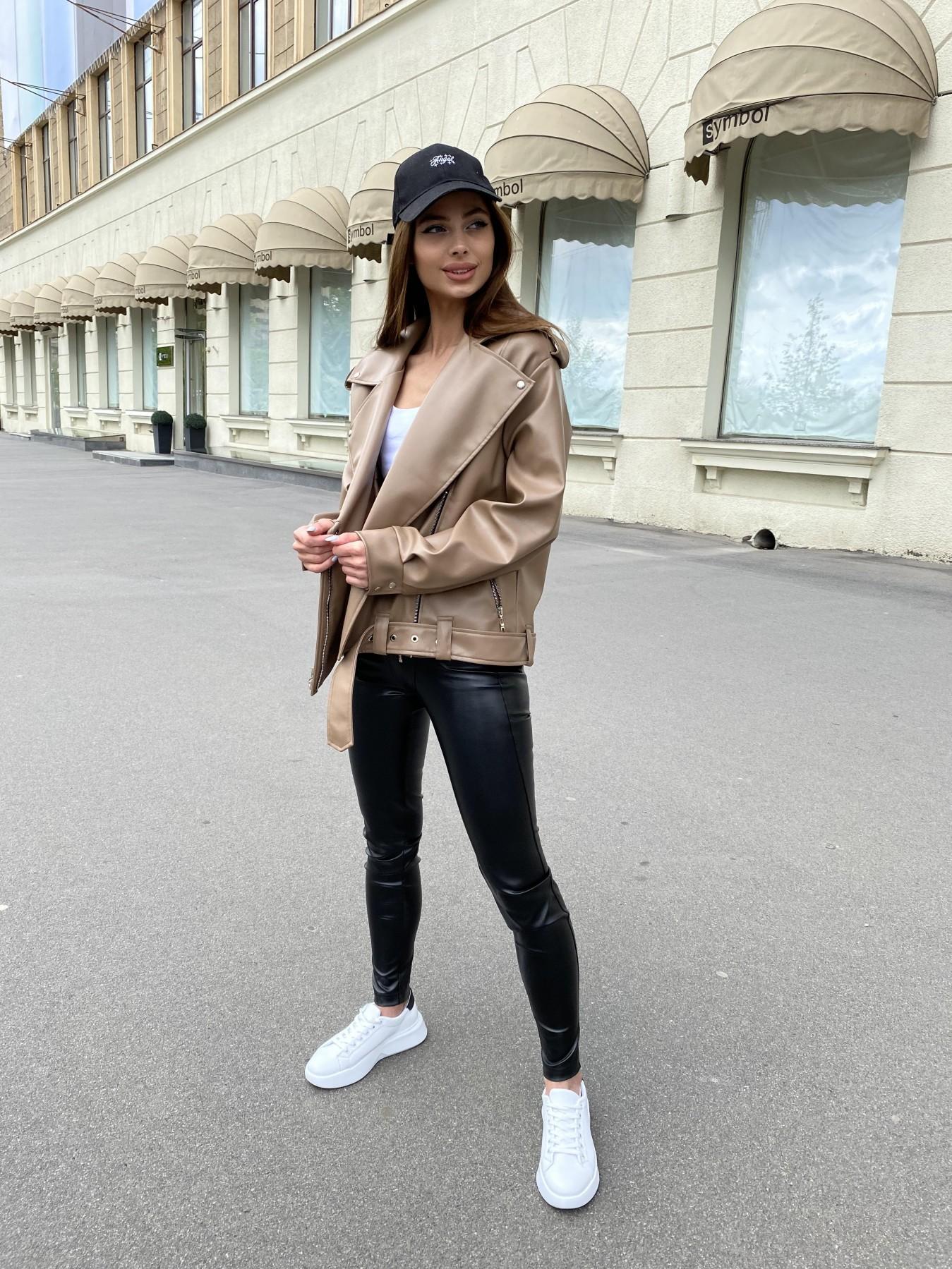 Фора куртка из экокожи прокатанная 11204 АРТ. 47789 Цвет: Бежевый Темный - фото 5, интернет магазин tm-modus.ru