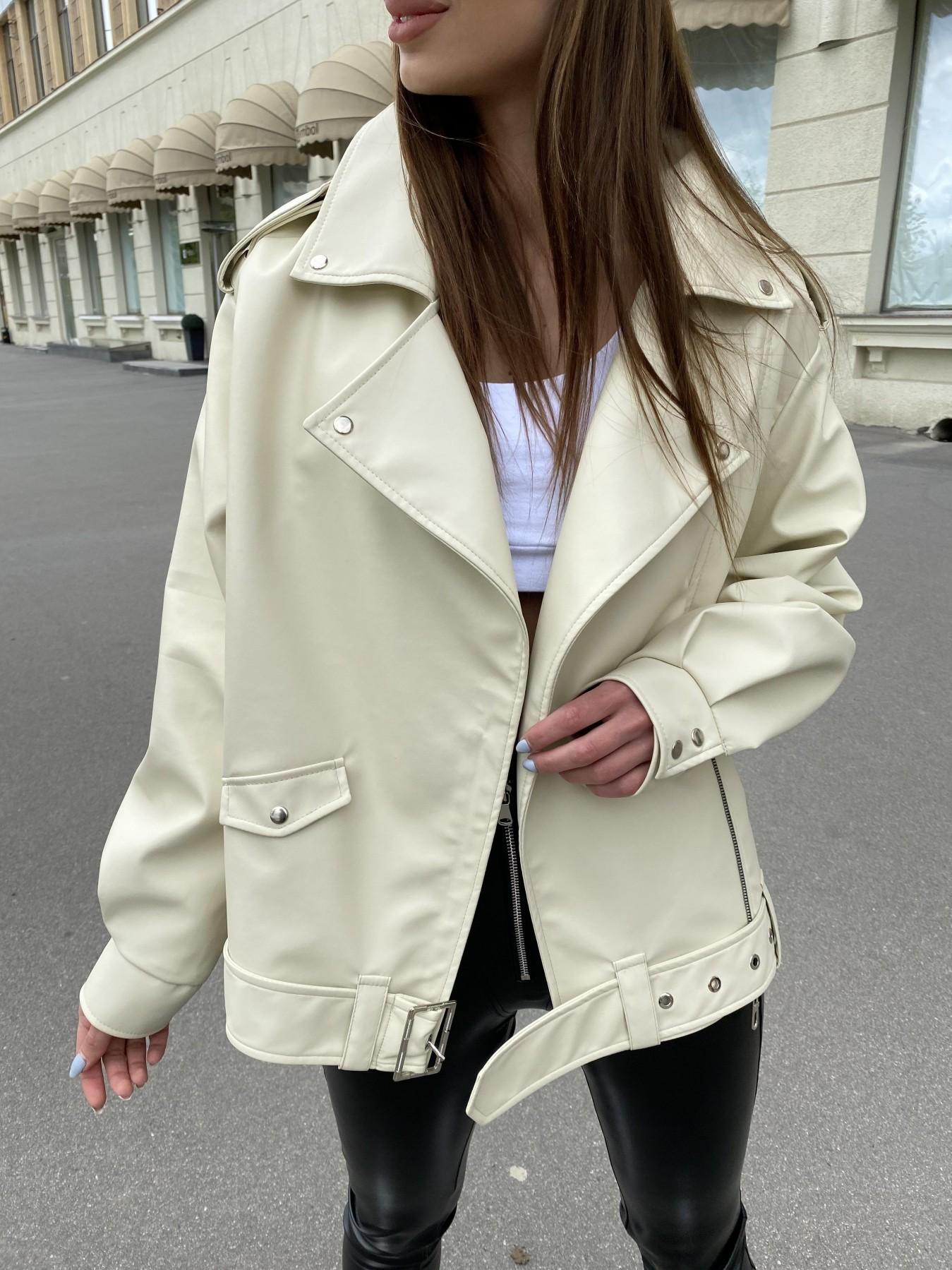 Фора куртка из экокожи прокатанная 11204 АРТ. 47783 Цвет: Бежевый Светлый - фото 2, интернет магазин tm-modus.ru