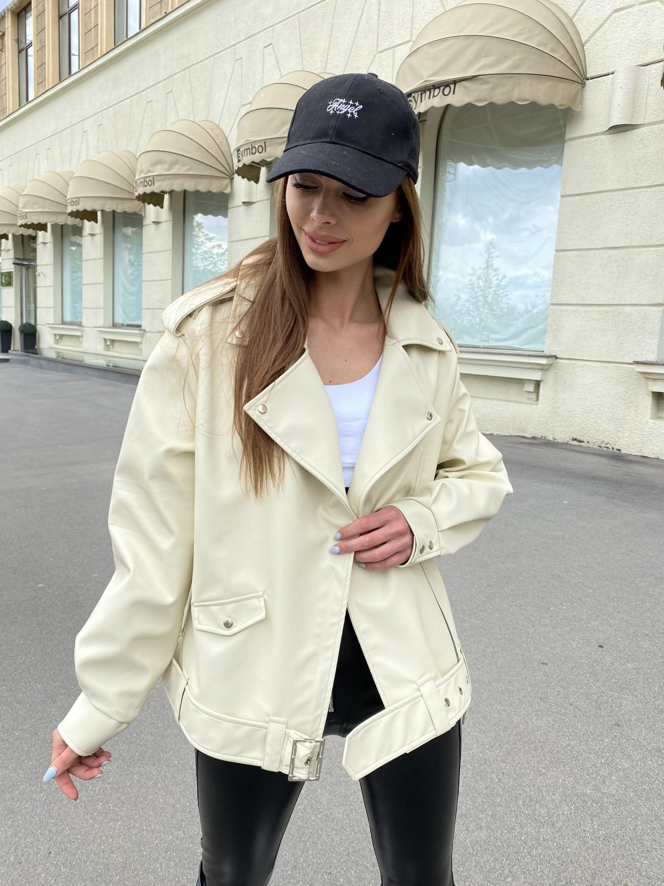 Фора куртка из экокожи прокатанная 11204 АРТ. 47783 Цвет: Бежевый Светлый - фото 3, интернет магазин tm-modus.ru