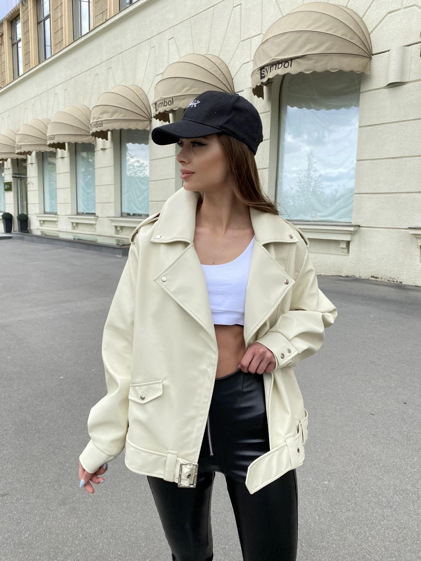 Фора куртка из экокожи прокатанная 11204 АРТ. 47783 Цвет: Бежевый Светлый - фото 5, интернет магазин tm-modus.ru