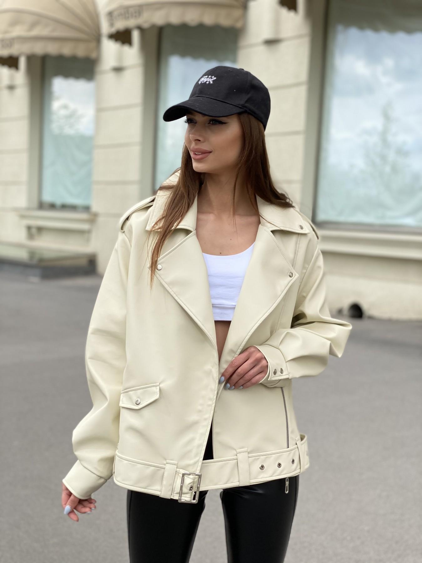куртка демисезонная женская Фора куртка из экокожи прокатанная 11204