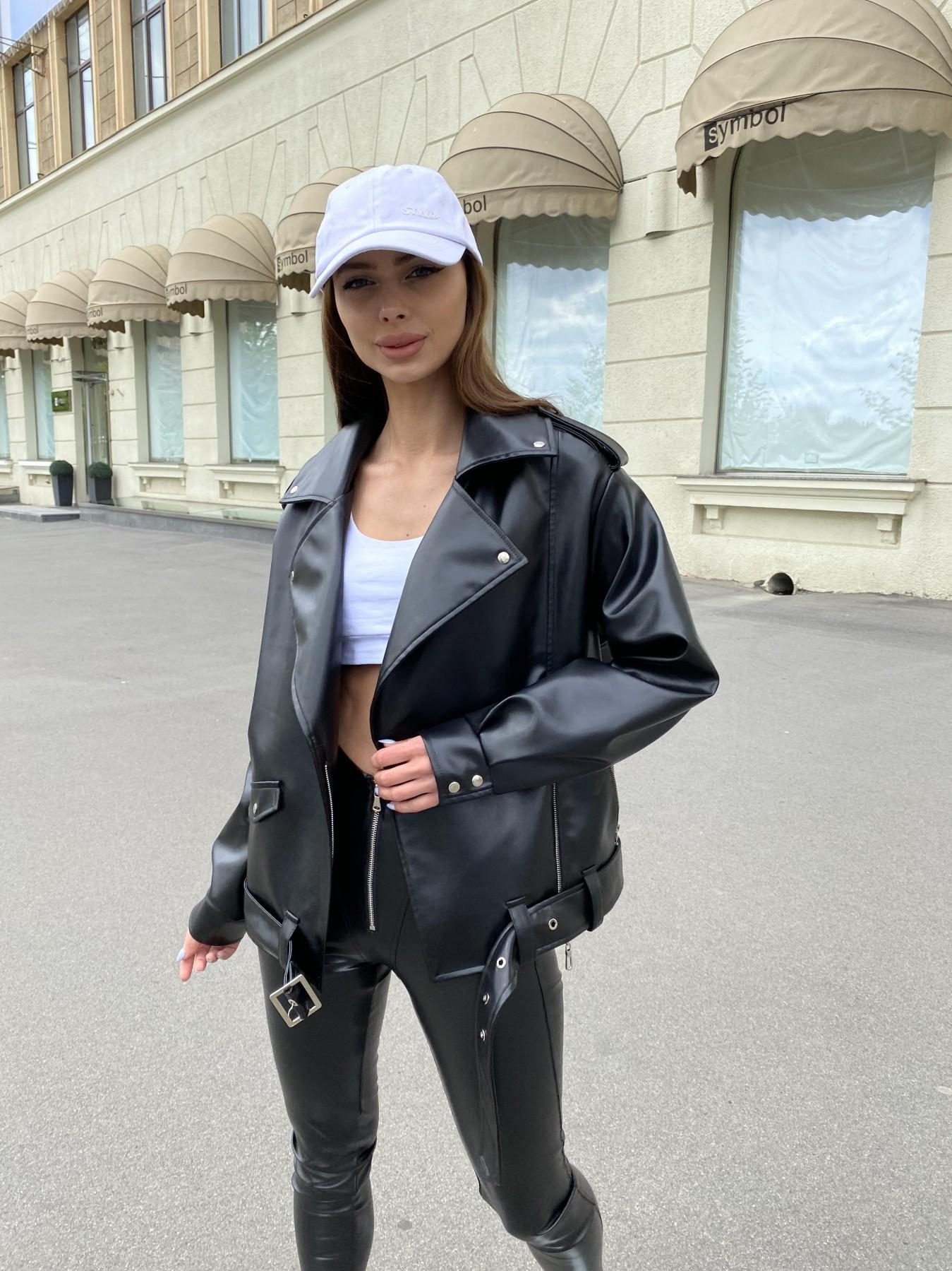 Фора куртка из экокожи прокатанная 11204 АРТ. 47779 Цвет: Черный - фото 1, интернет магазин tm-modus.ru